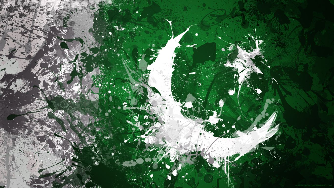 1366x768 pakistan flag | Kainat- Desktop Wallpapers