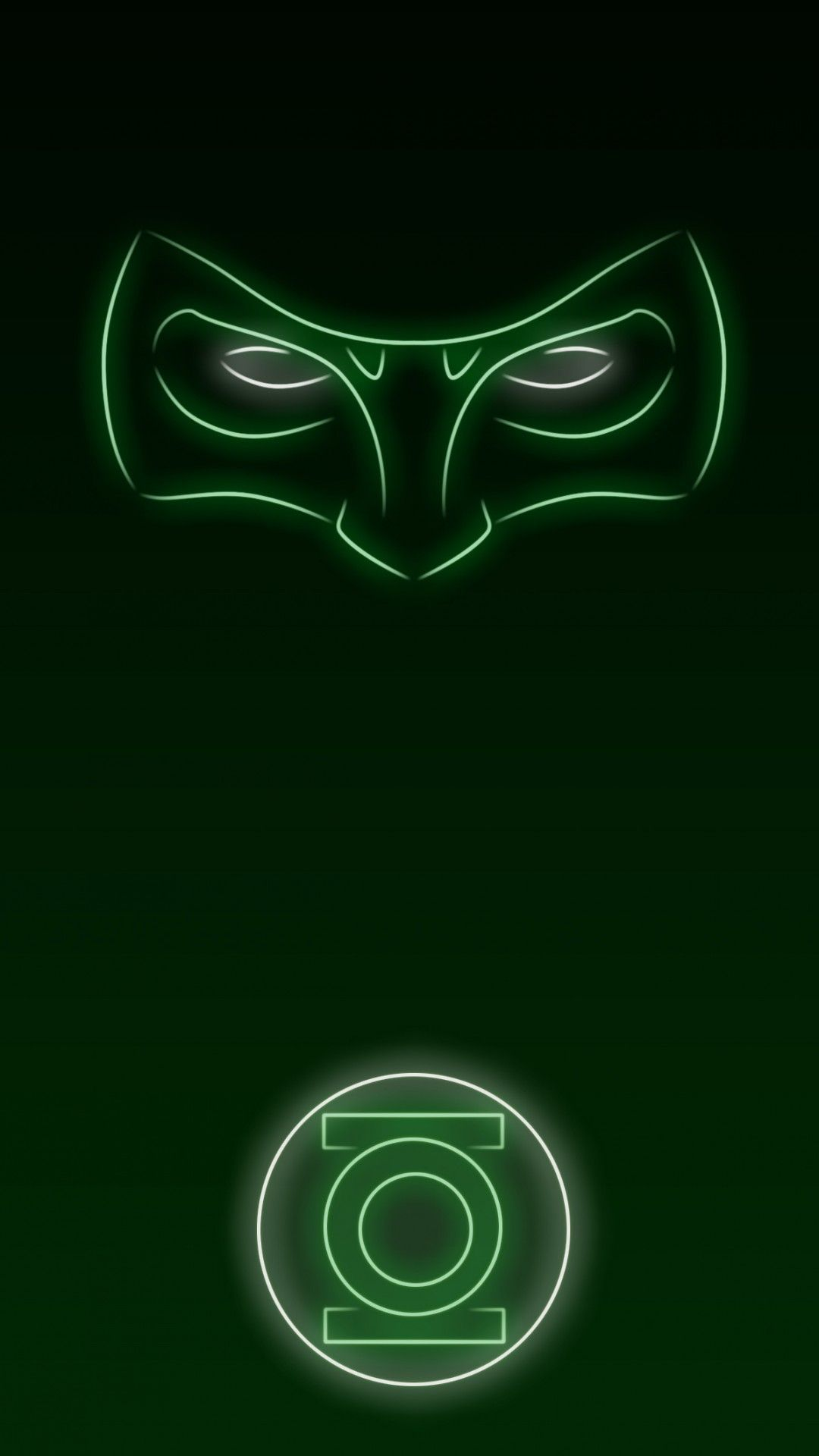 1080x1920 Download Neon Light Hero Green Lantern 1080 x 1920 ...