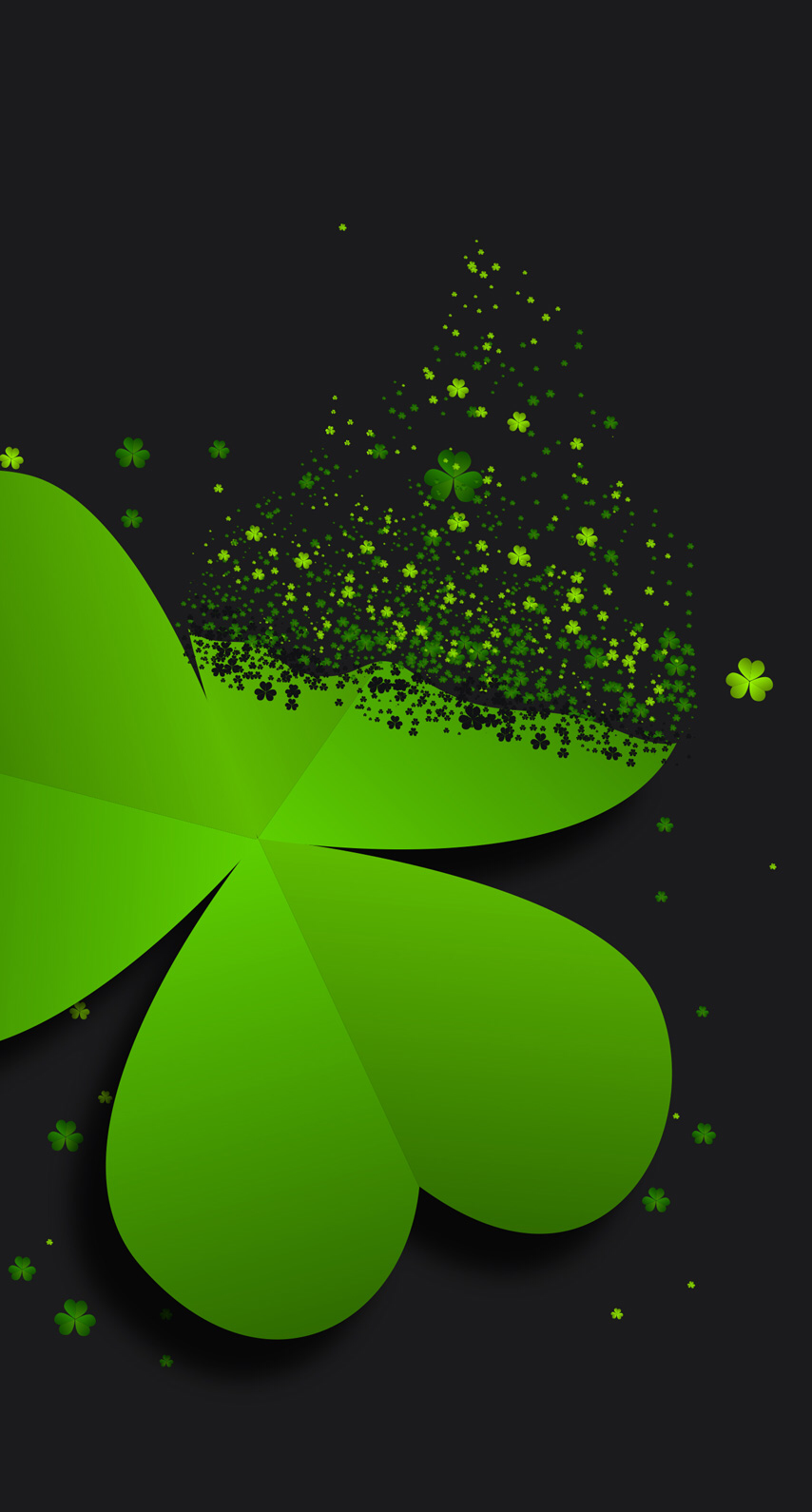 854x1590 Lucky Clover. in 2019 | Iphone wallpaper, Black phone ...