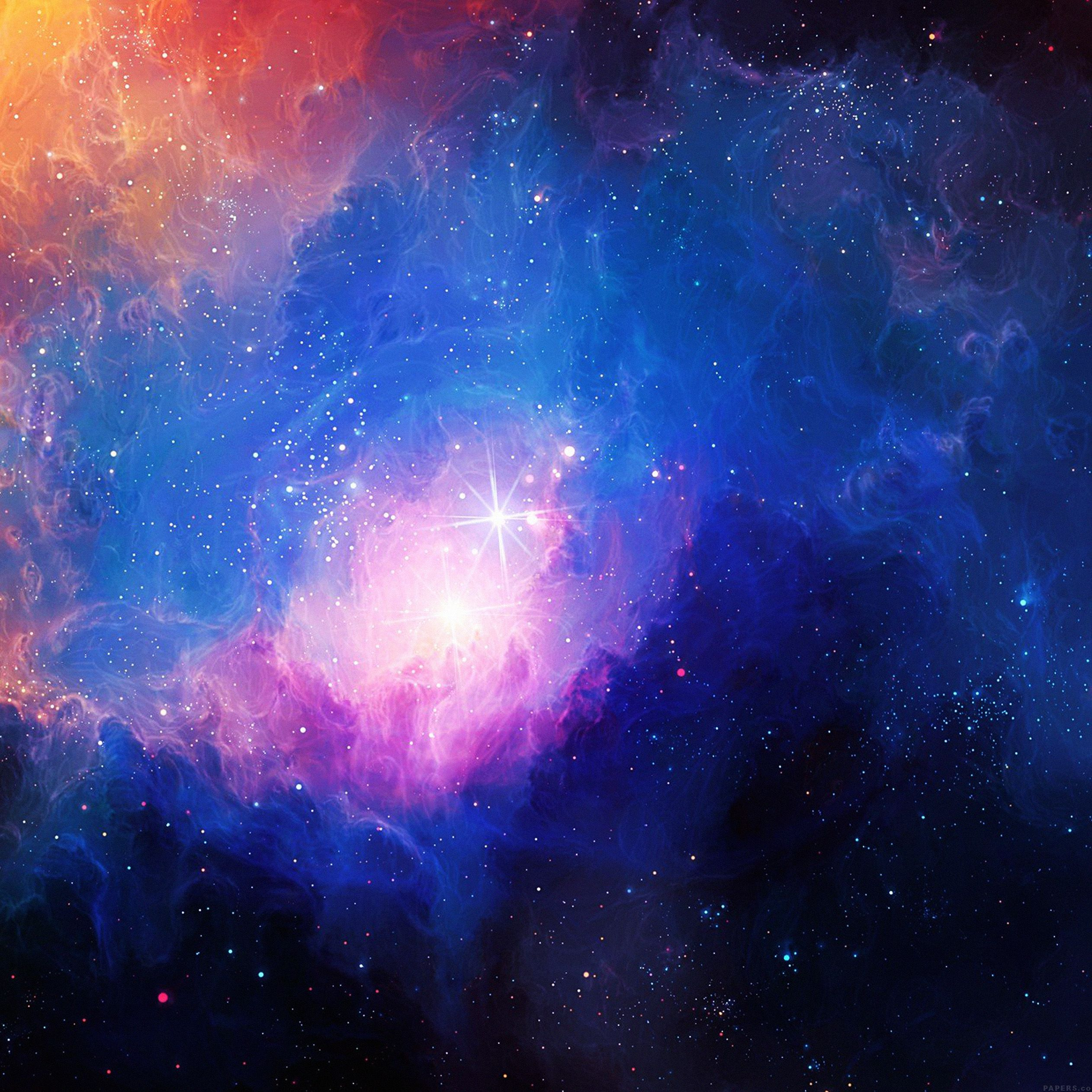 2524x2524 Gorgeous galaxy wallpapers for iPhone and iPad