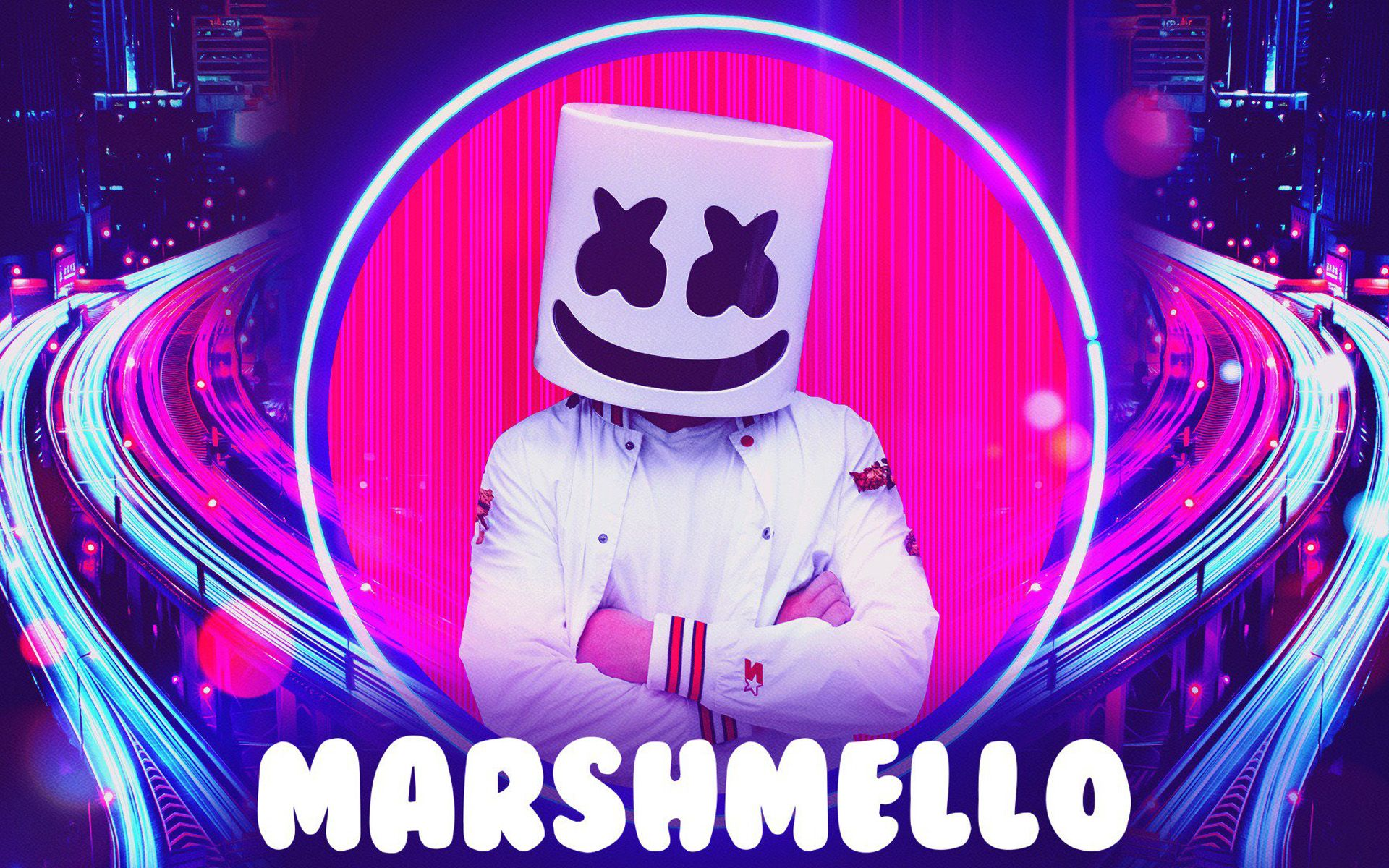 1920x1200 Download wallpapers DJ Marshmello, abstract art, american DJ ...