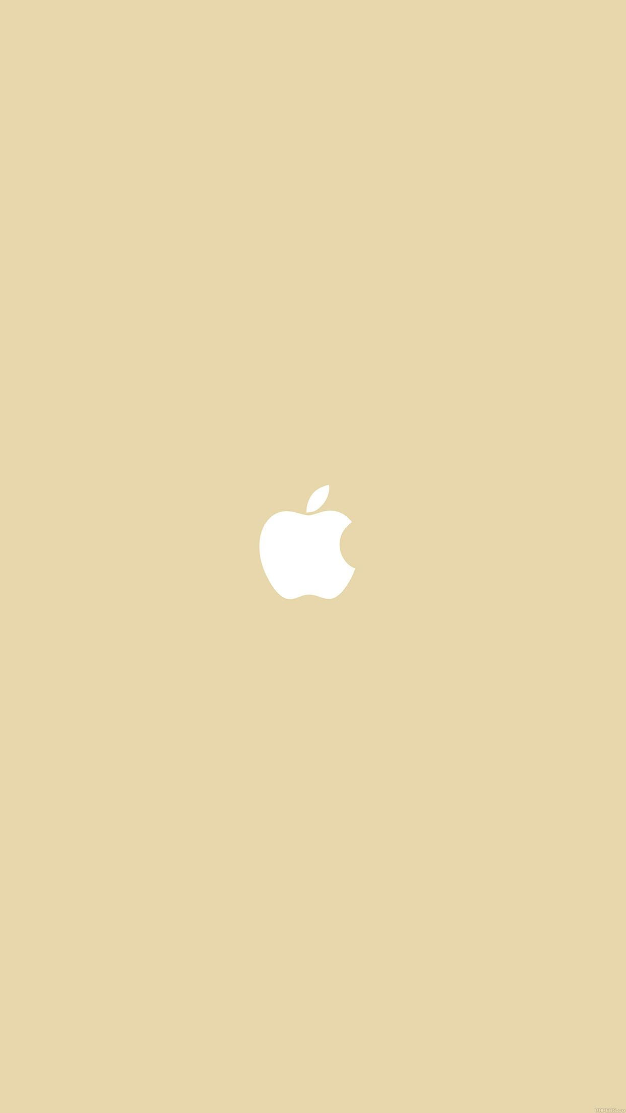 1242x2208 Simple Apple Logo Gold Minimal Android wallpaper - Android ...
