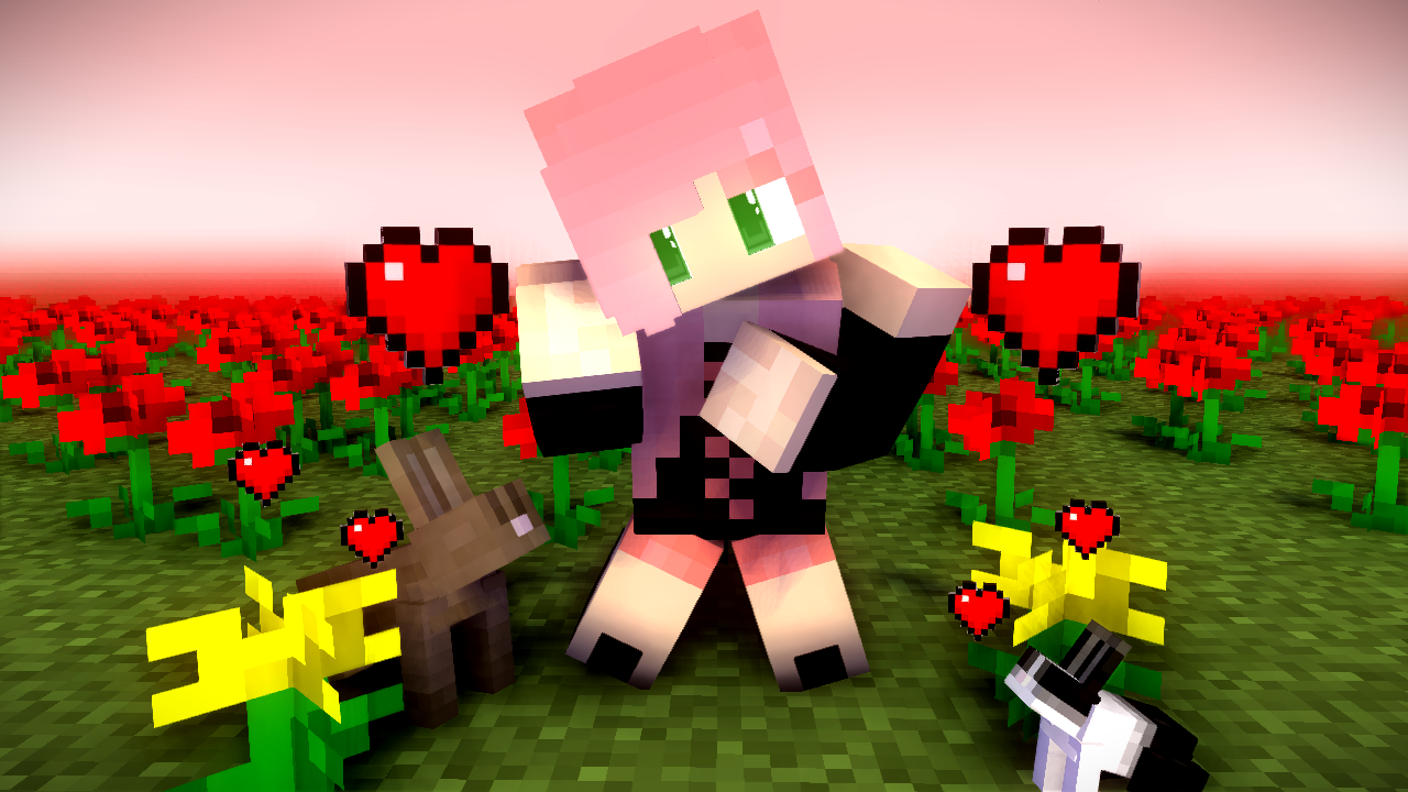 1280x720 cute girl minecraft - Wallpapers and art - Mine-imator forums