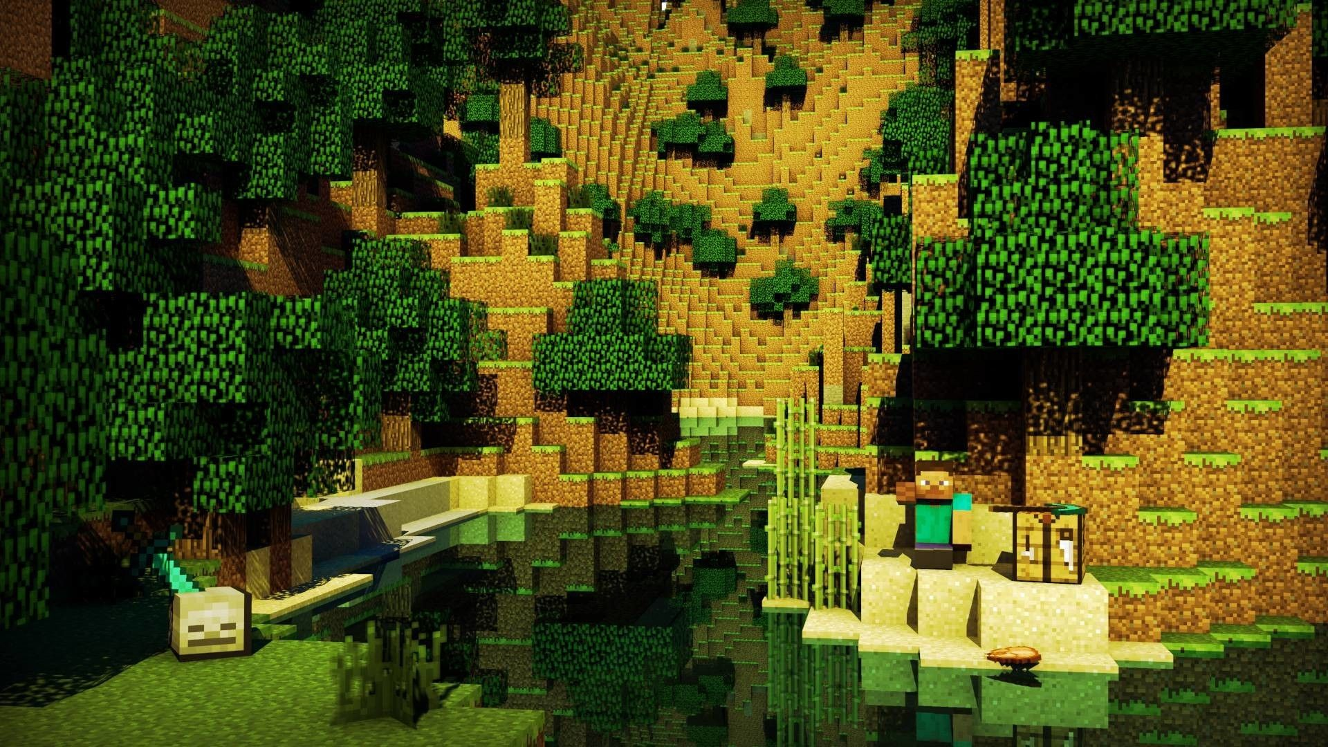 1920x1080 75+ Minecraft Background Wallpapers on WallpaperPlay