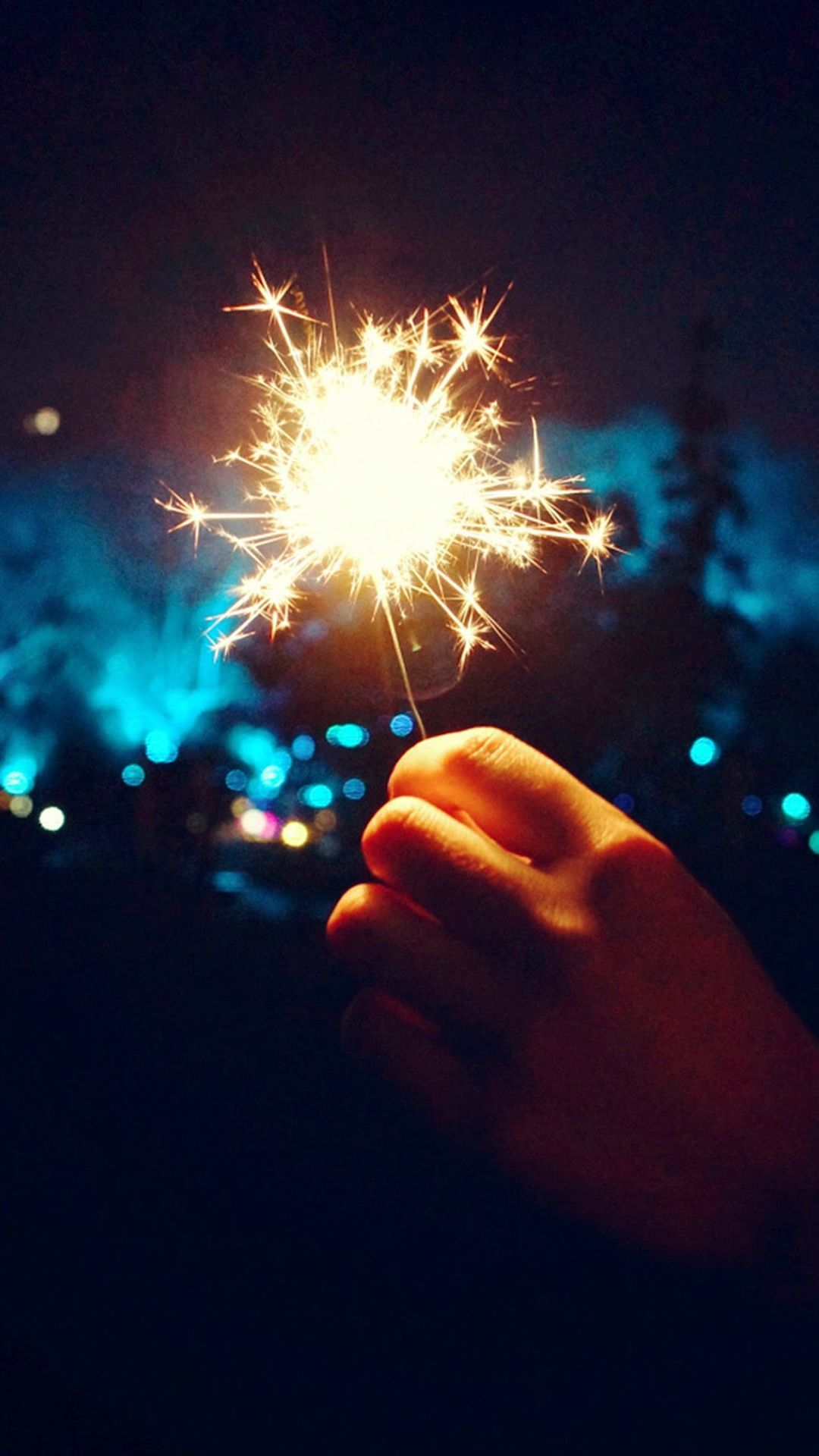 1080x1920 Happy New Year Fireworks Hand #iPhone #6 #plus #wallpaper ...