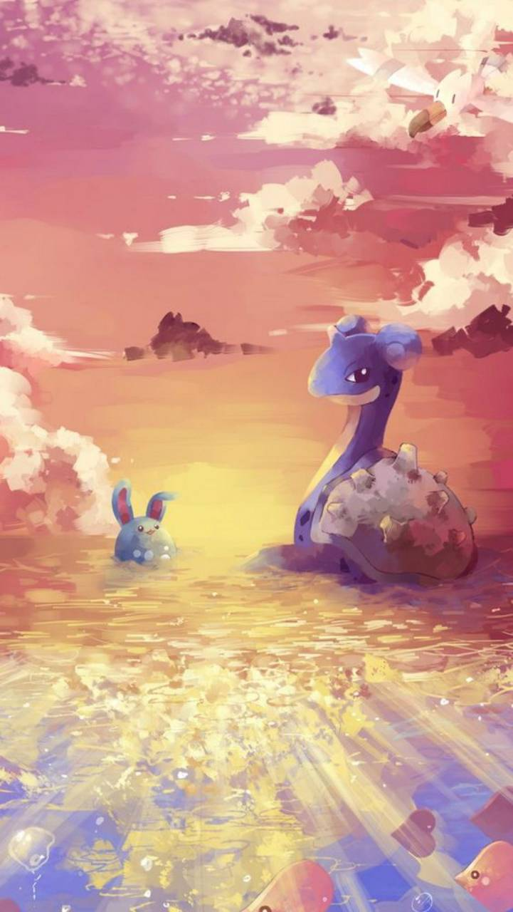 721x1280 Lapras and Azumarill Wallpaper by Agaaa_K - 07 - Free on ZEDGE™