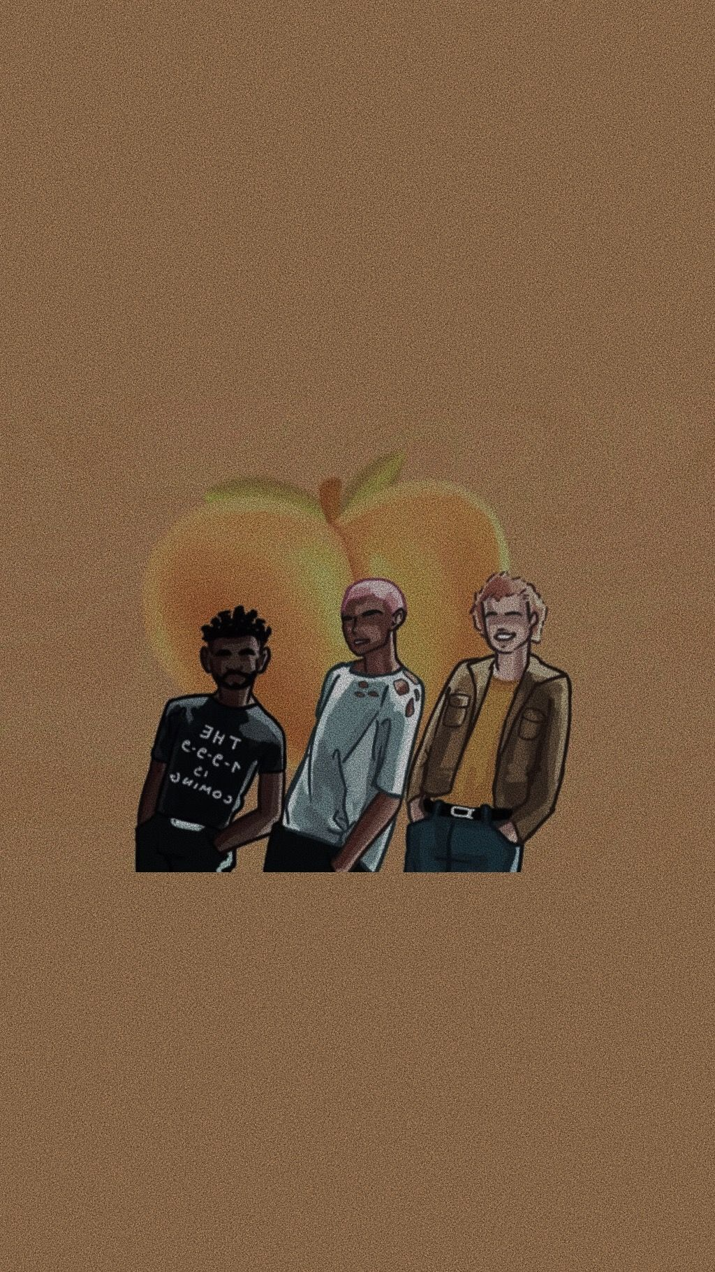1024x1820 peach kevin abstract lockscreen in 2019 | Kevin abstract ...