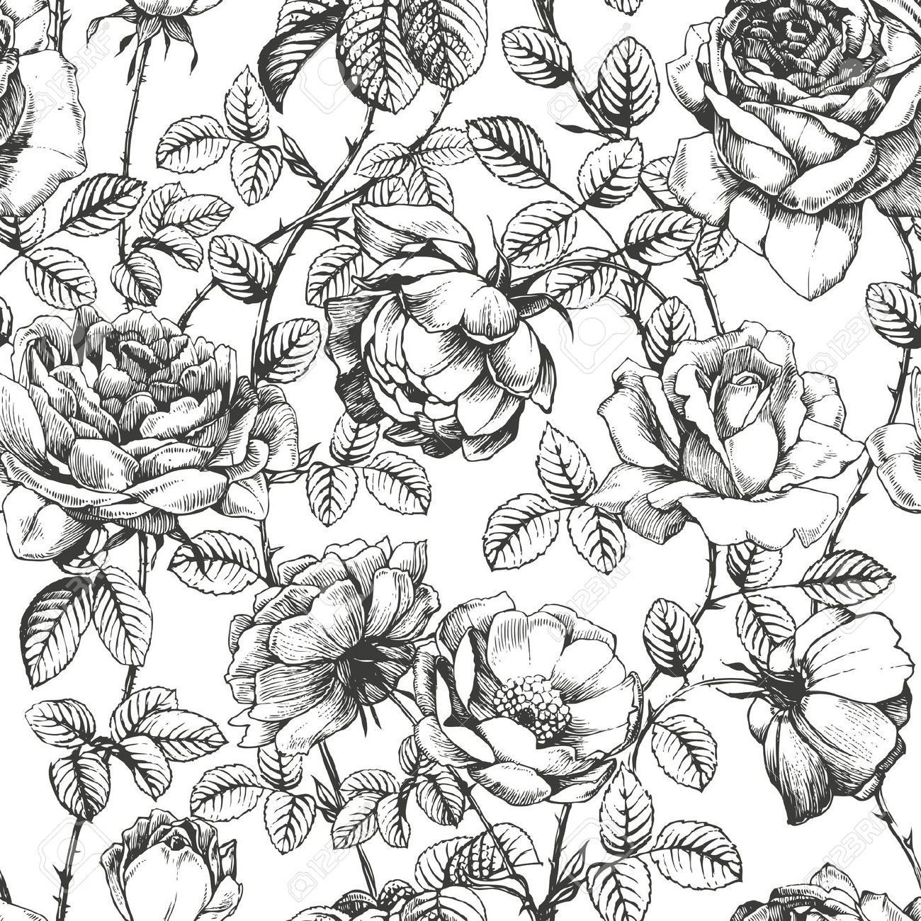 1300x1300 vintage patterns black and white japanese - Google Search ...