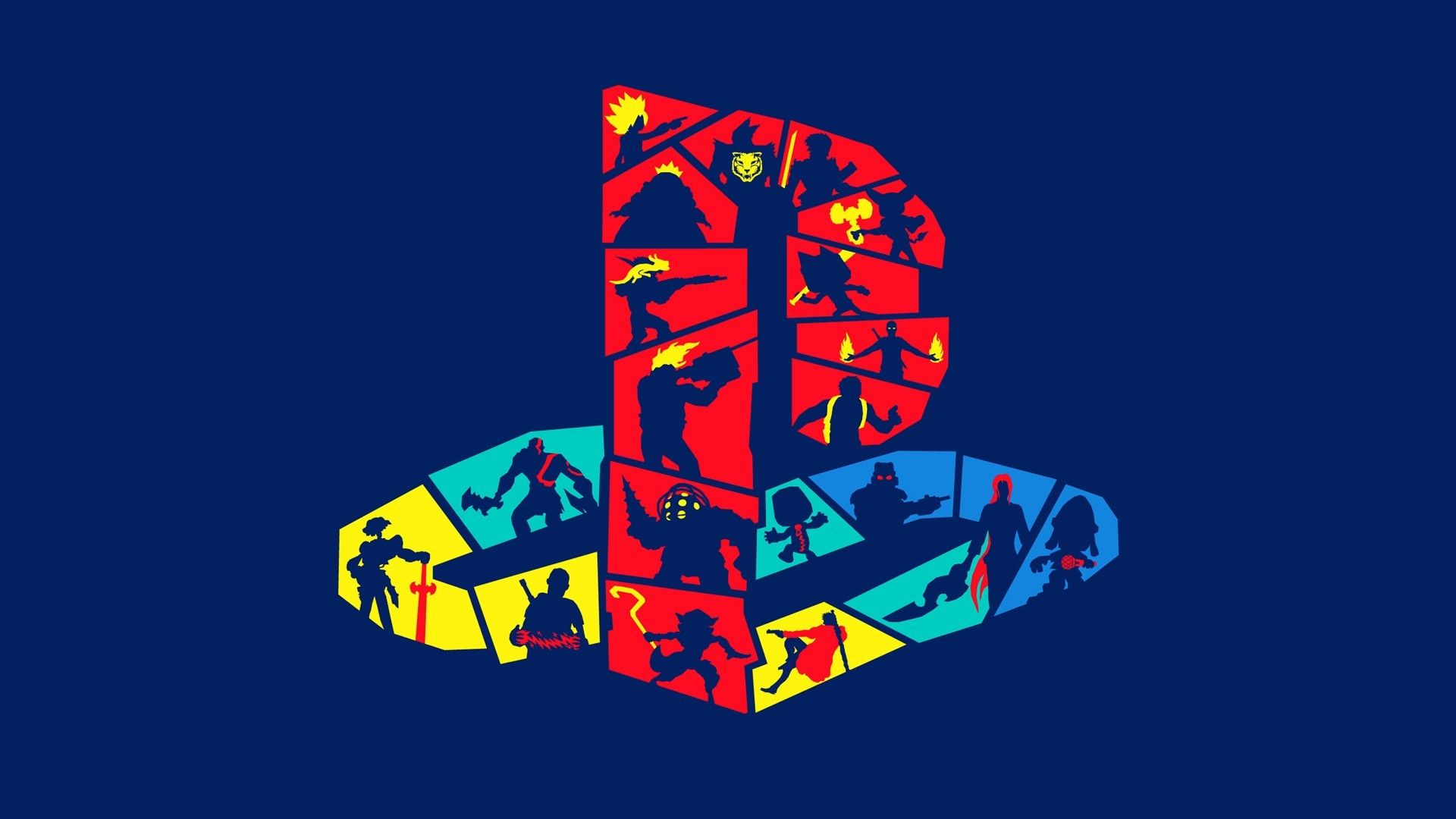 1920x1080 Funky Playstation Logo Wallpaper for Desktop and Mobiles ...