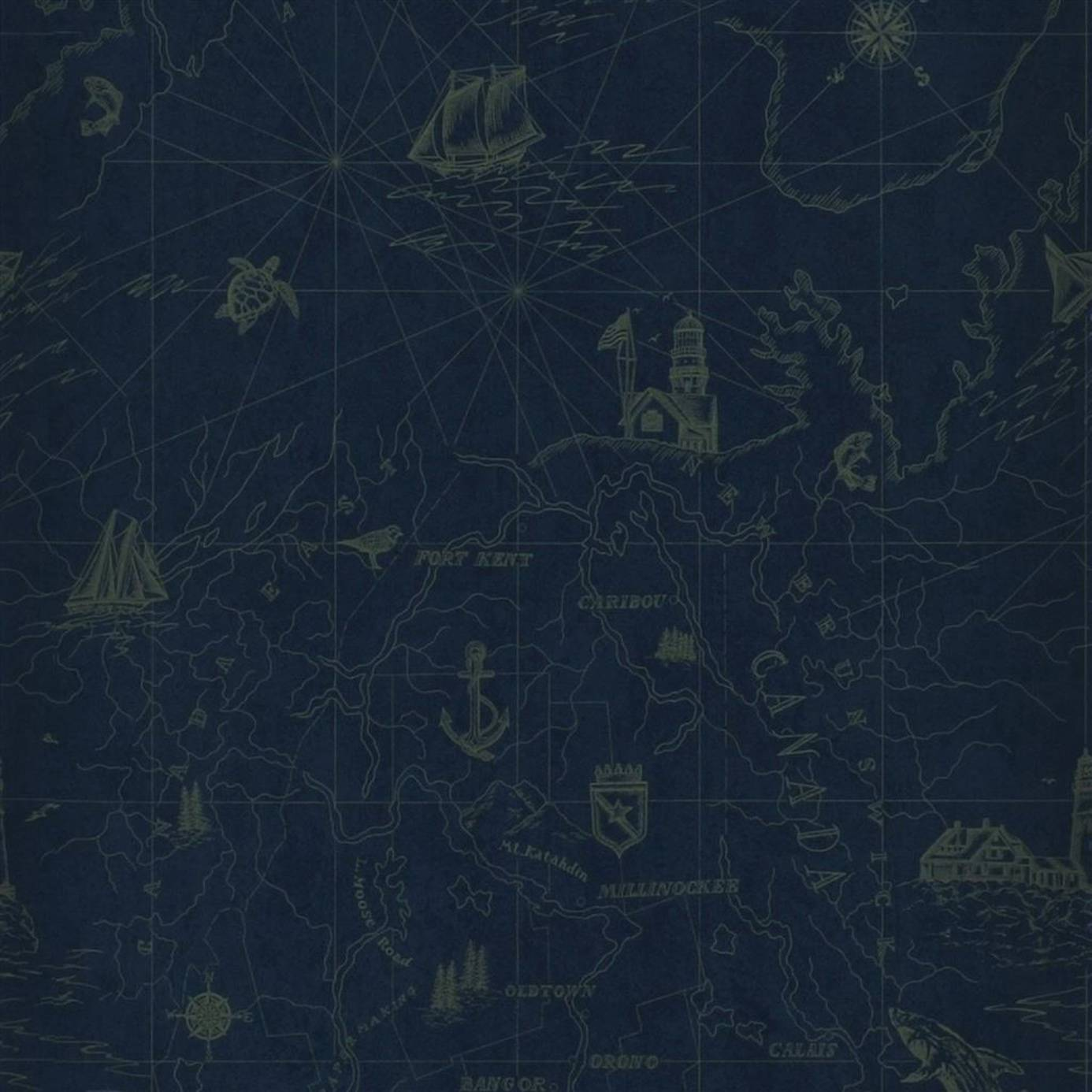 1386x1386 Ralph Lauren Searsport Map Wallpaper - RoyalProduct Code: PRL5027-04