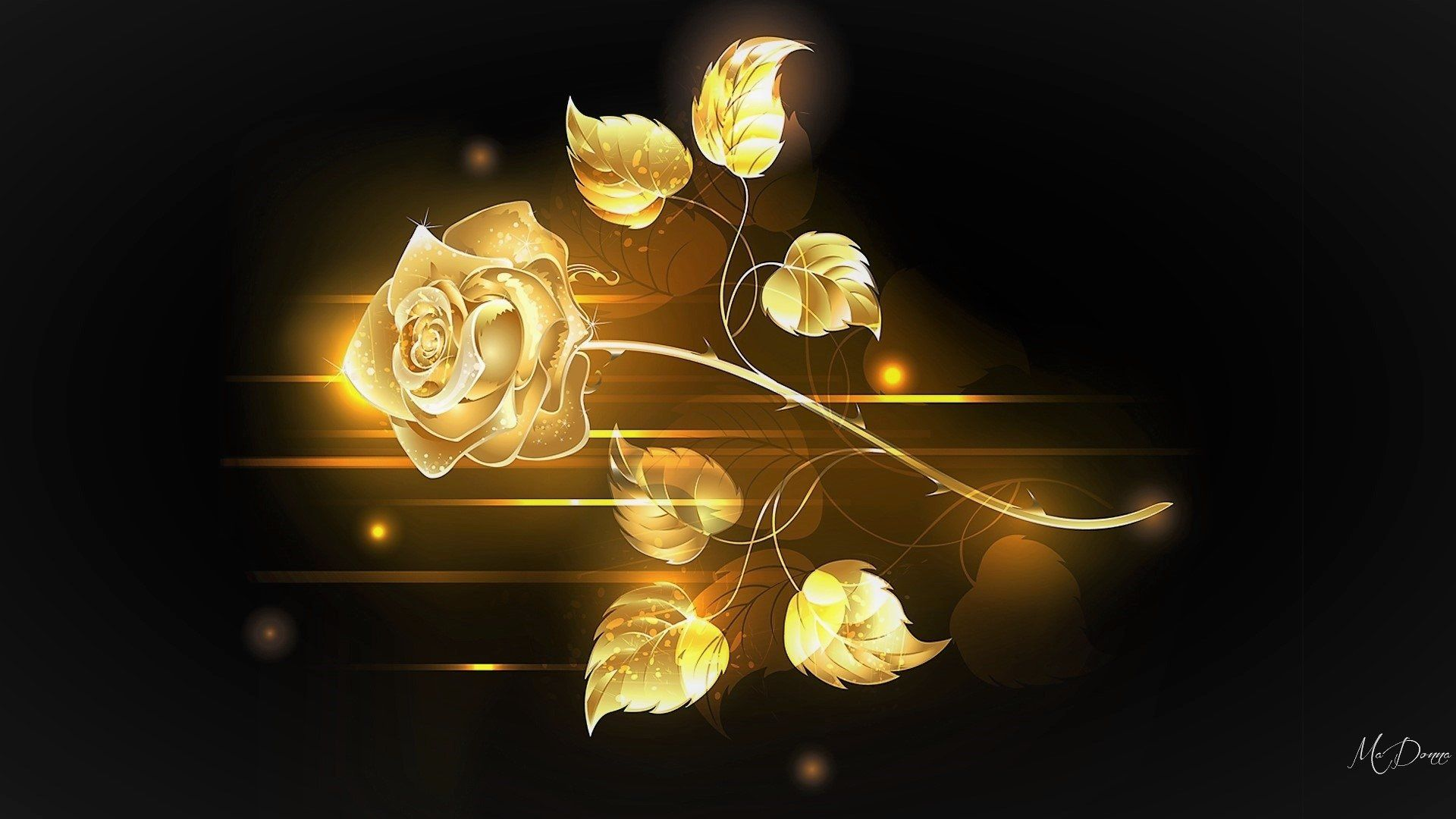 1920x1080 Golden Rose HD Wallpaper | Background Image | 1920x1080 | ID ...