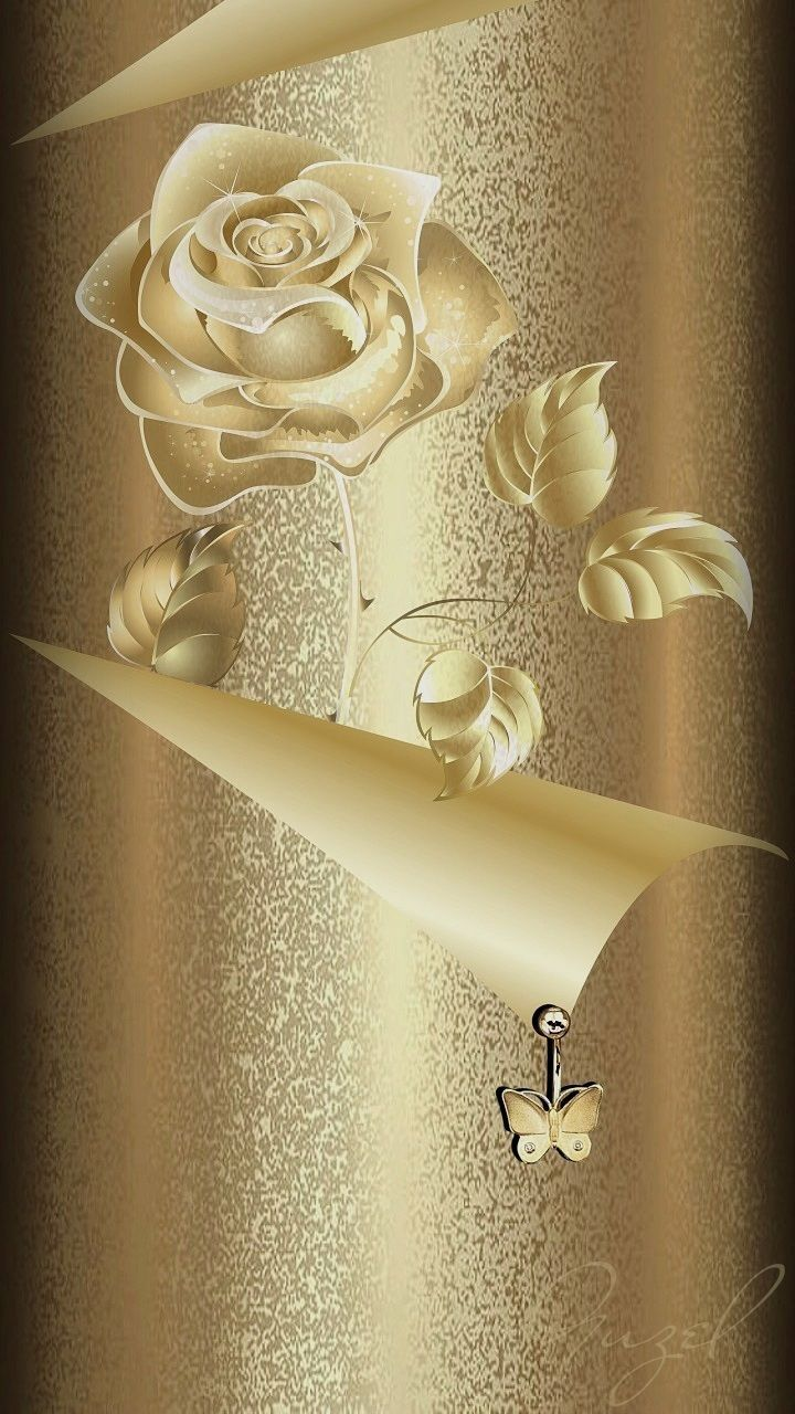 720x1280 Golden Rose Wallpaper By Artist Unknown - Png Rose Gold ...