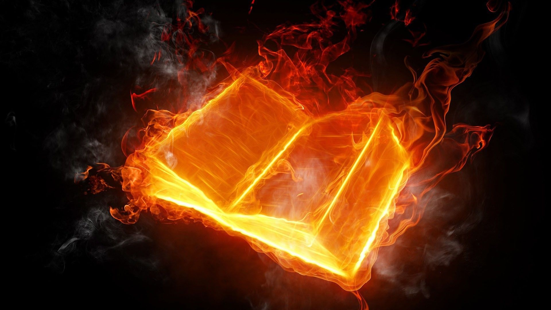 1920x1080 Abstract Fire Book Wallpaper HD Apple Colourful Amazing Cool ...
