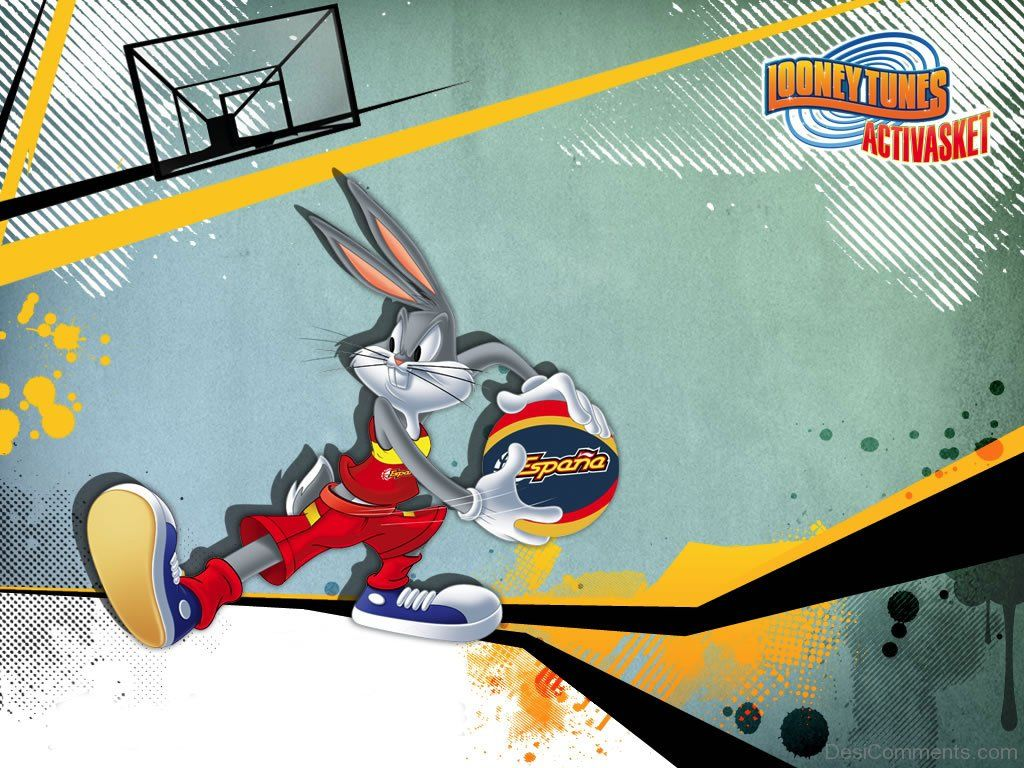 1024x768 Bugs Bunny Playing Basketball - Wallpapers | DesiComments.com