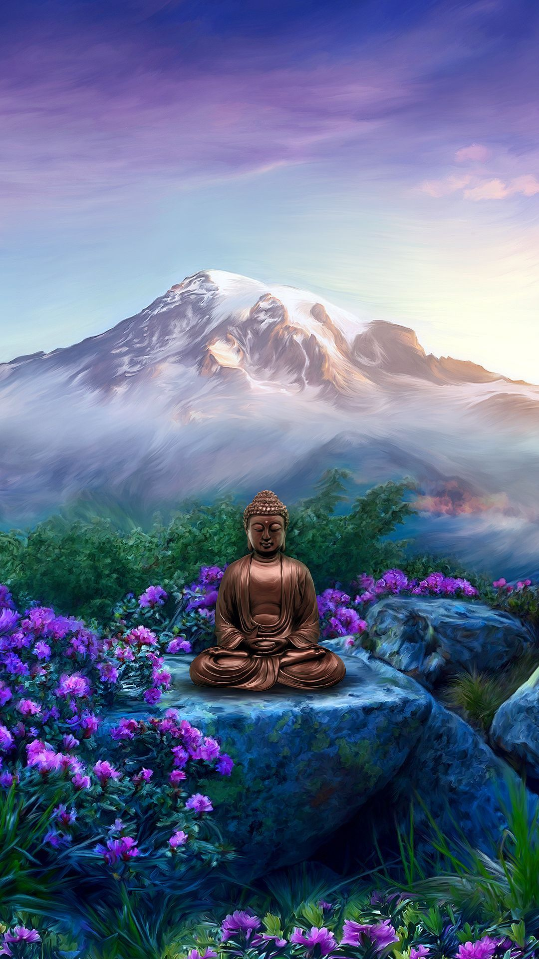 1080x1920 Buddha Wallpaper for Mobile Devices – Artwork by ...