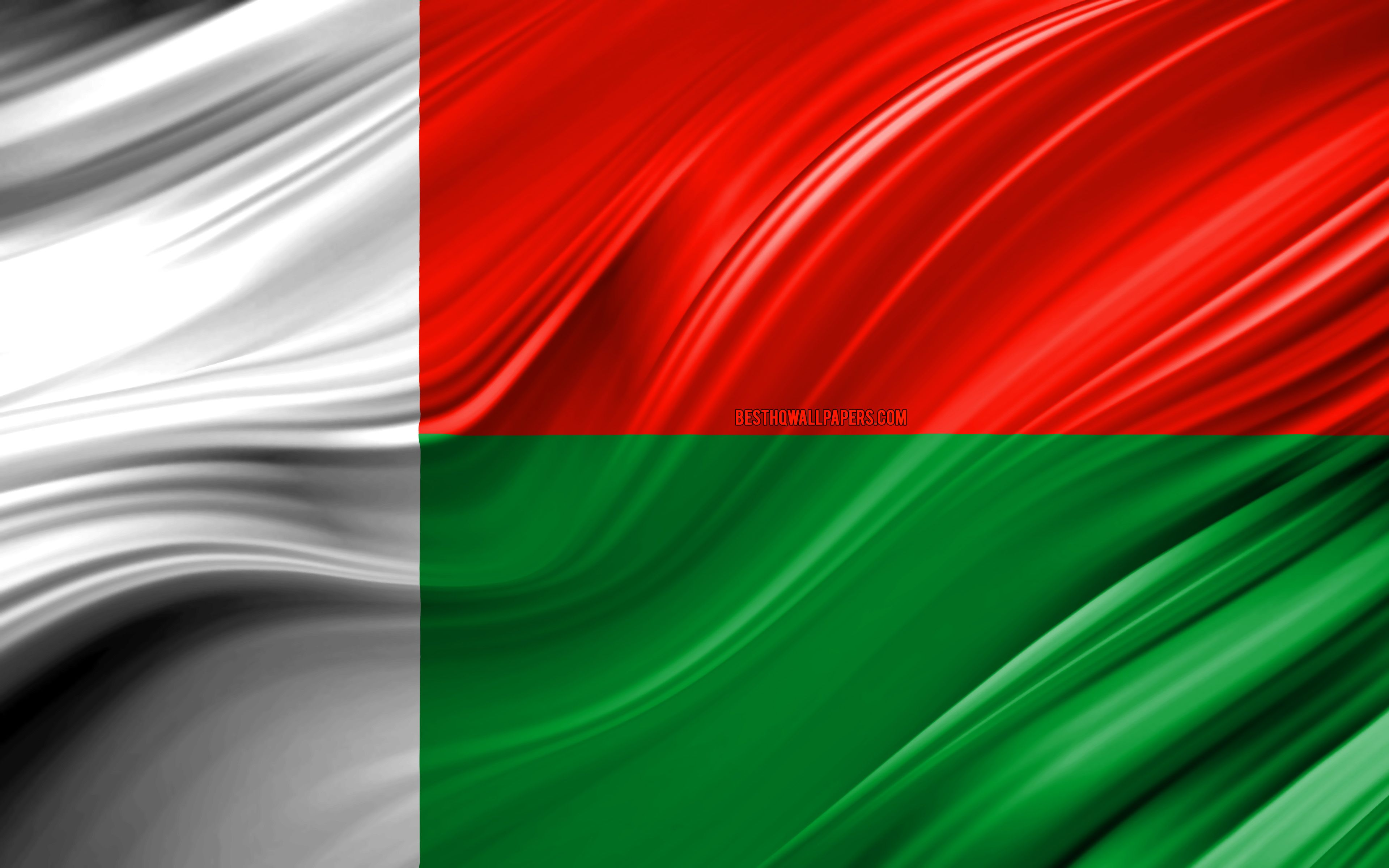 3840x2400 Download wallpapers 4k, Madagascar flag, African countries ...