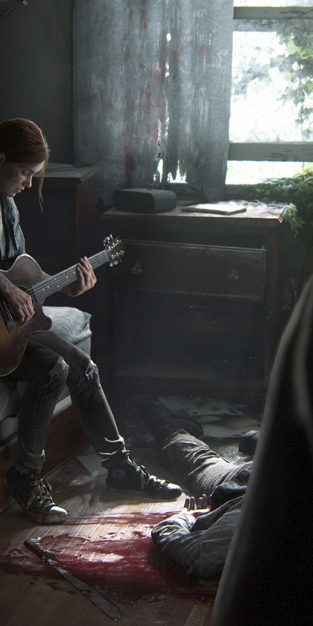 1080x2160 The Last of Us Part 2 Ellie Playing Guitar 4K Wallpaper #7