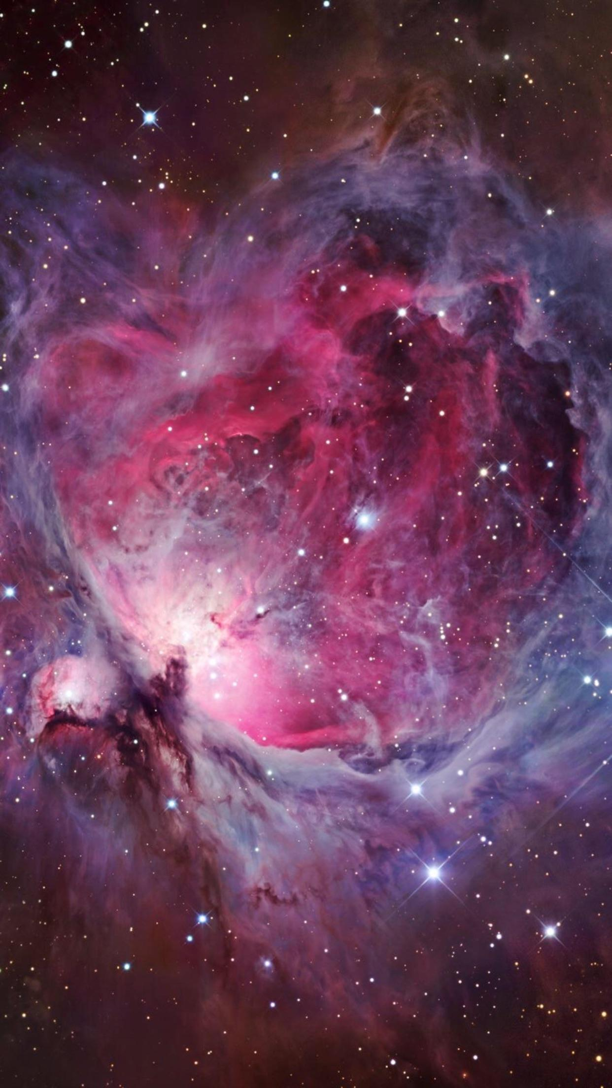 1242x2208 Current wallpaper; the Orion Nebula : phonewallpapers