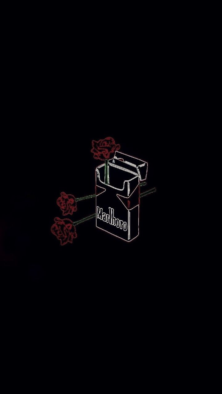 720x1280 black malboro rose cigarettes - Wallpapers.VIP