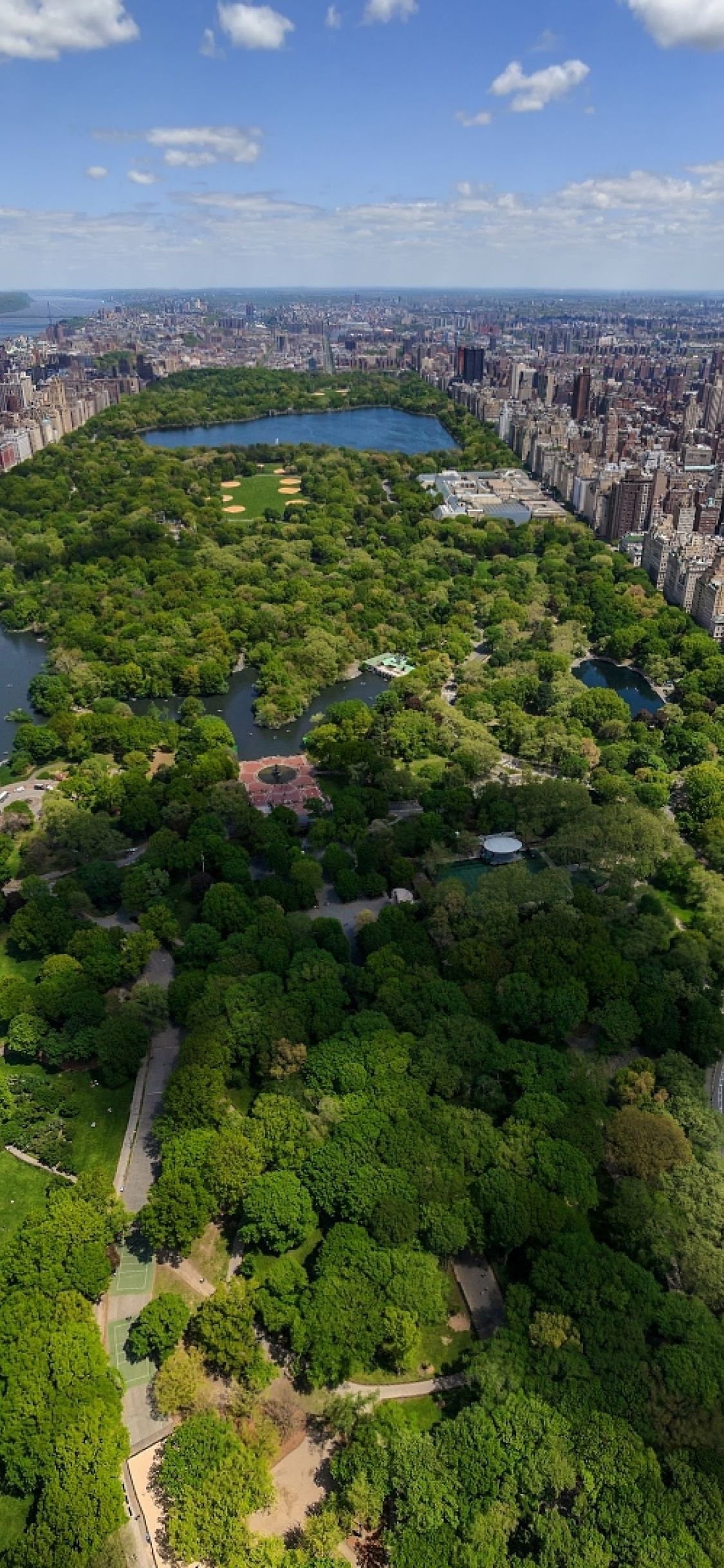1125x2436 1125x2436 new york, central park, top view Iphone XS,Iphone ...