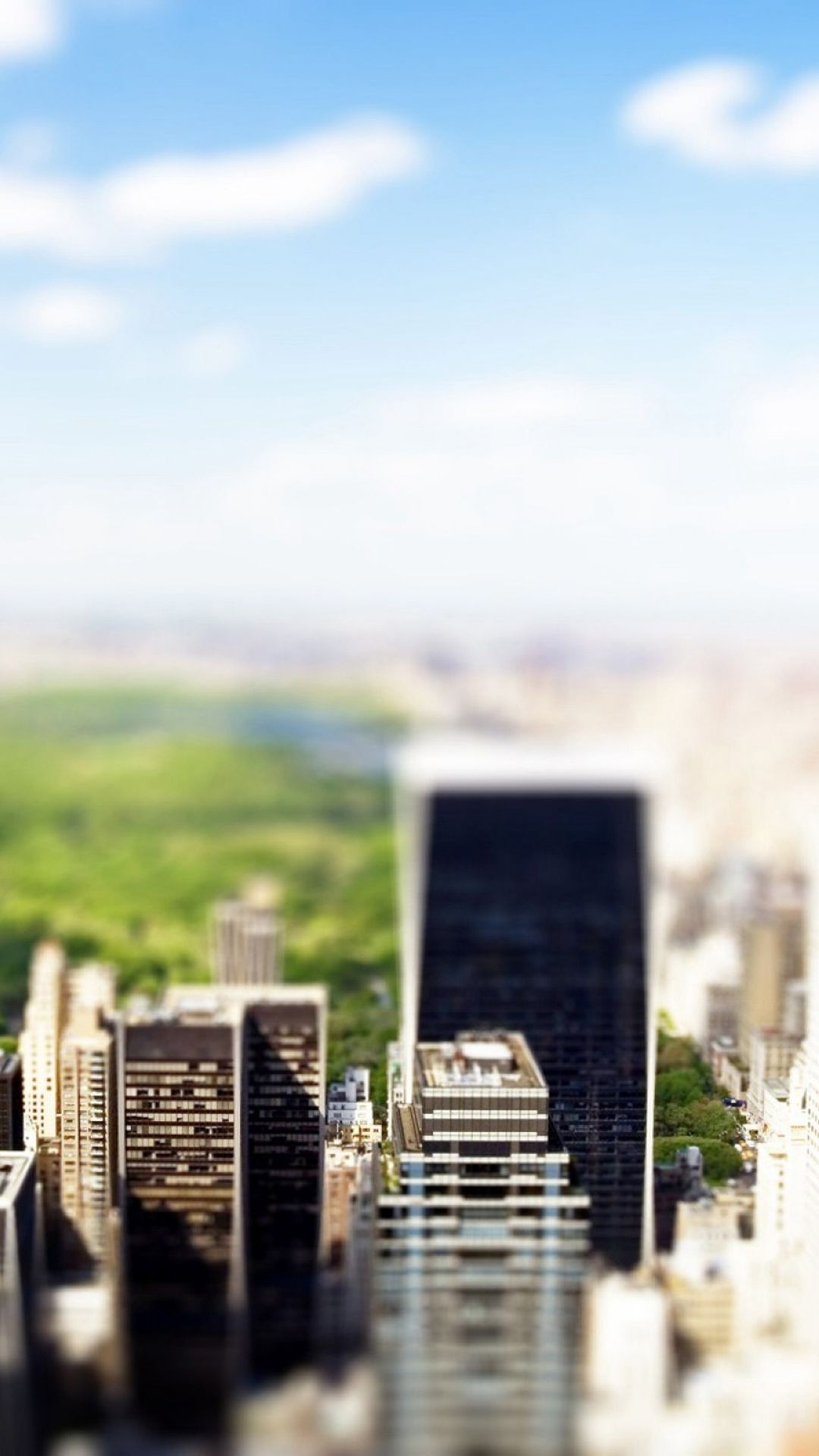 1080x1920 New York Central Park Tilt Shift iPhone 8 Wallpapers Free ...