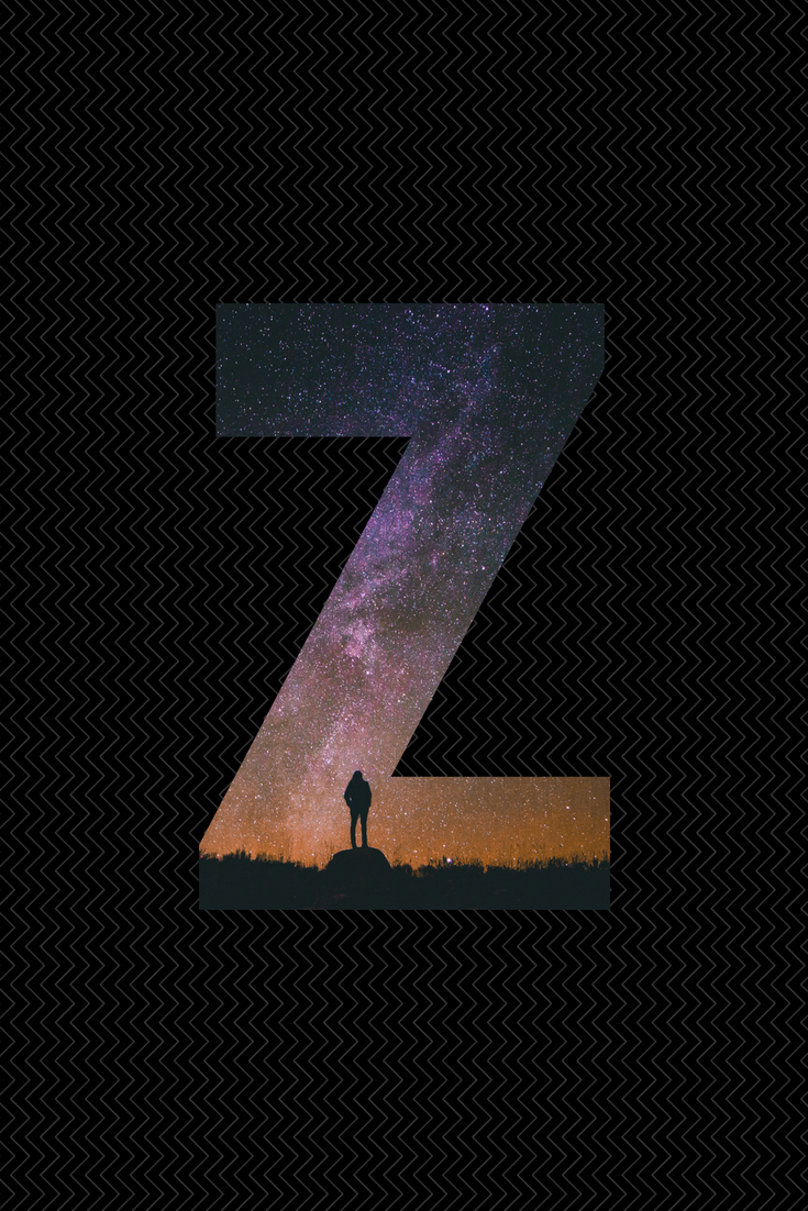 735x1102 letter z wallpaper, designed by me using canva in 2019 ...