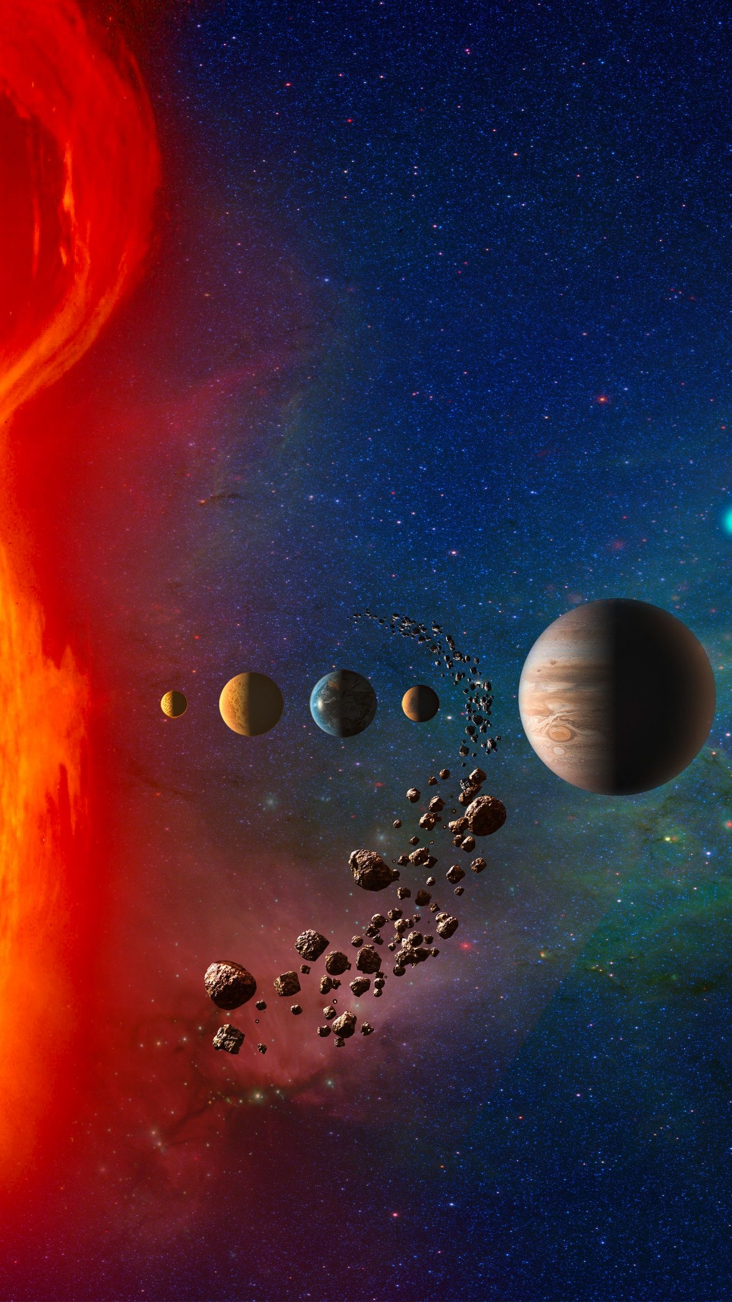 1440x2560 Planets in Solar System 4K Wallpapers | HD Wallpapers | ID #23622