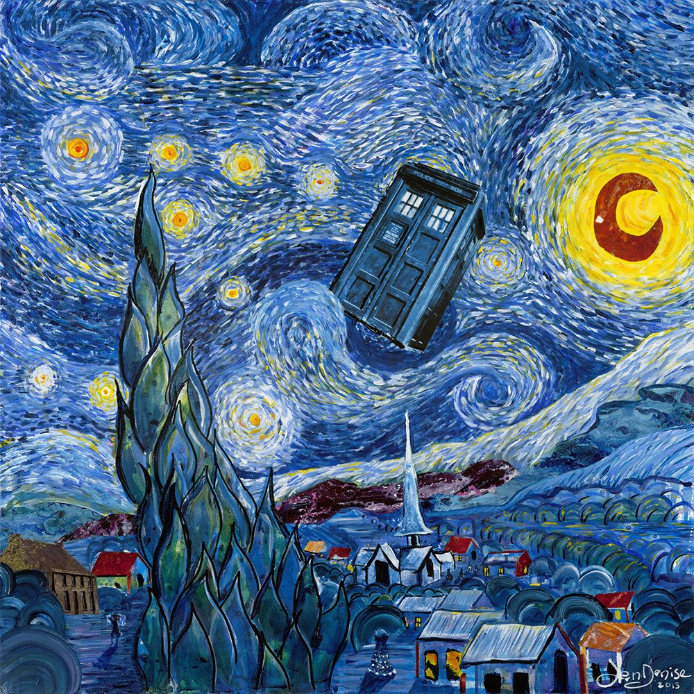 1000x1000 Doctor Who Meets Van Gogh - Colour in Your Life