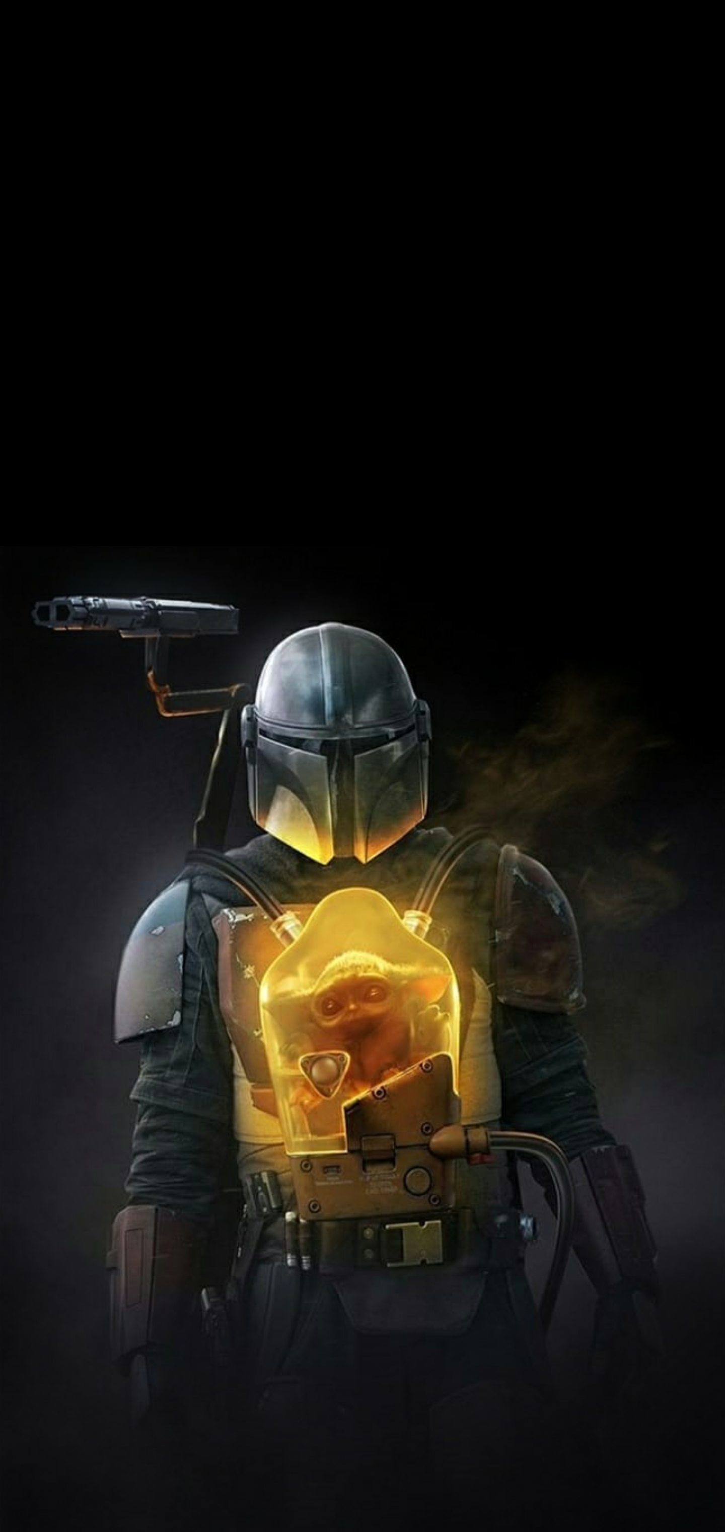 1440x3040 The Mandalorian : iphonewallpapers