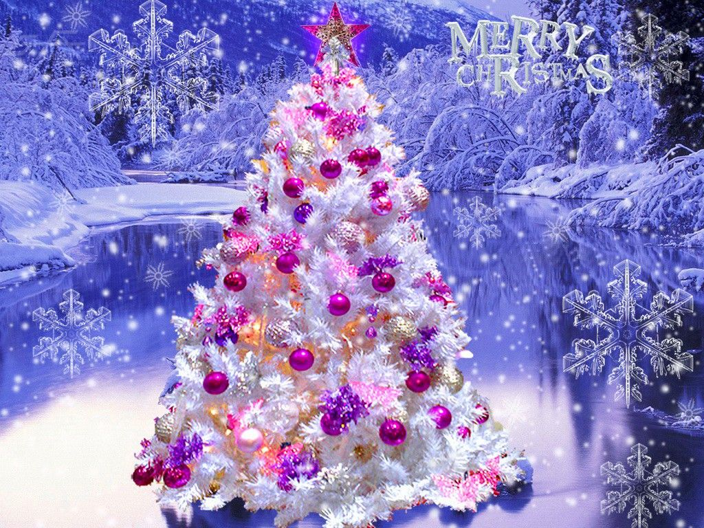 1024x768 Free Hd Beautiful Flowers Tree Christmas Wallpapers ...