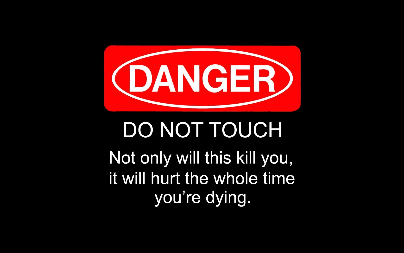 1680x1050 Dont Touch My Mouse Funny Wallpaper | Wallpapers Engine