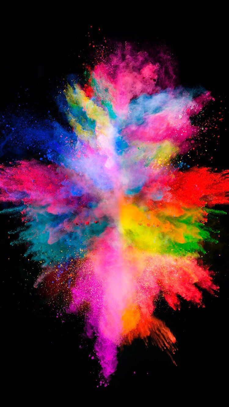 750x1334 Colorful explosion on the black background for your iPhone ...