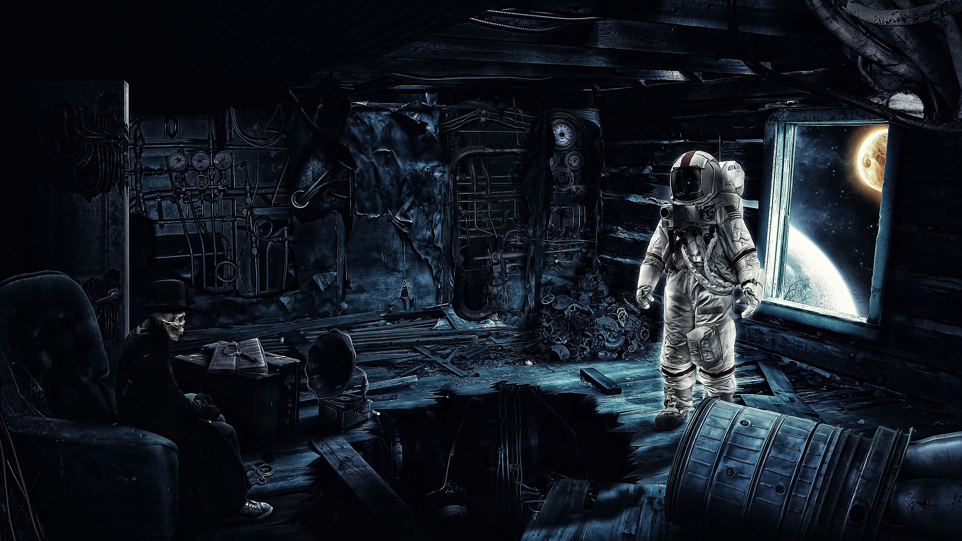 3840x2160 228 Astronaut HD Wallpapers   Background Images - Wallpaper Abyss
