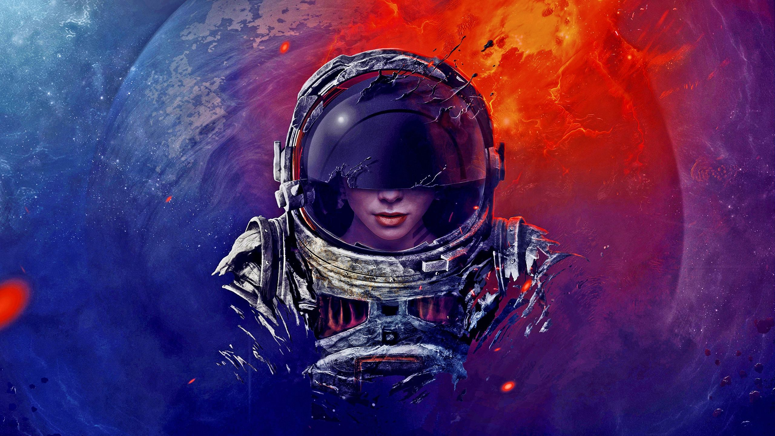 2560x1440 228 Astronaut HD Wallpapers | Background Images - Wallpaper Abyss