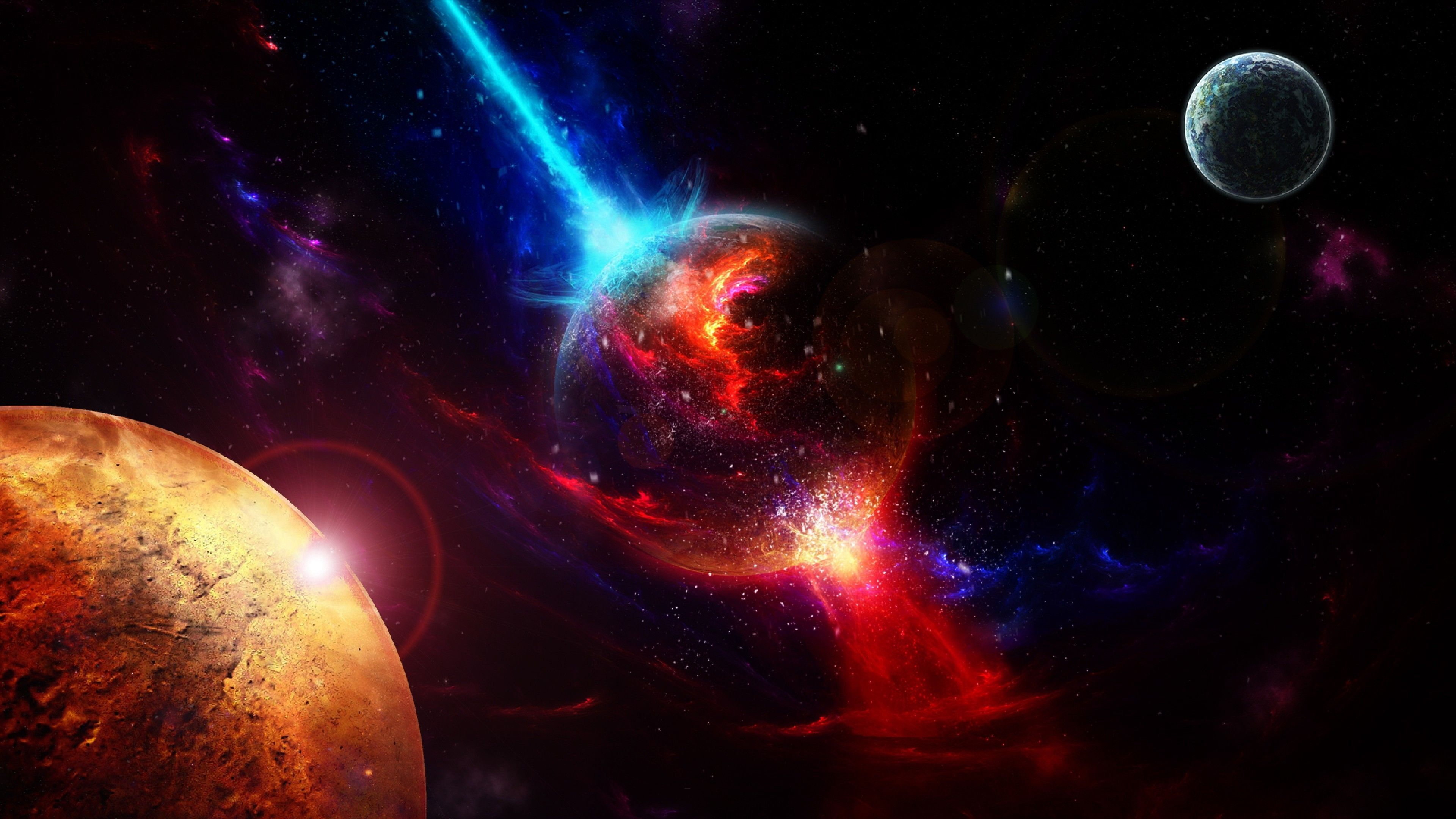 3840x2160 76+ Red Space Wallpapers on WallpaperPlay