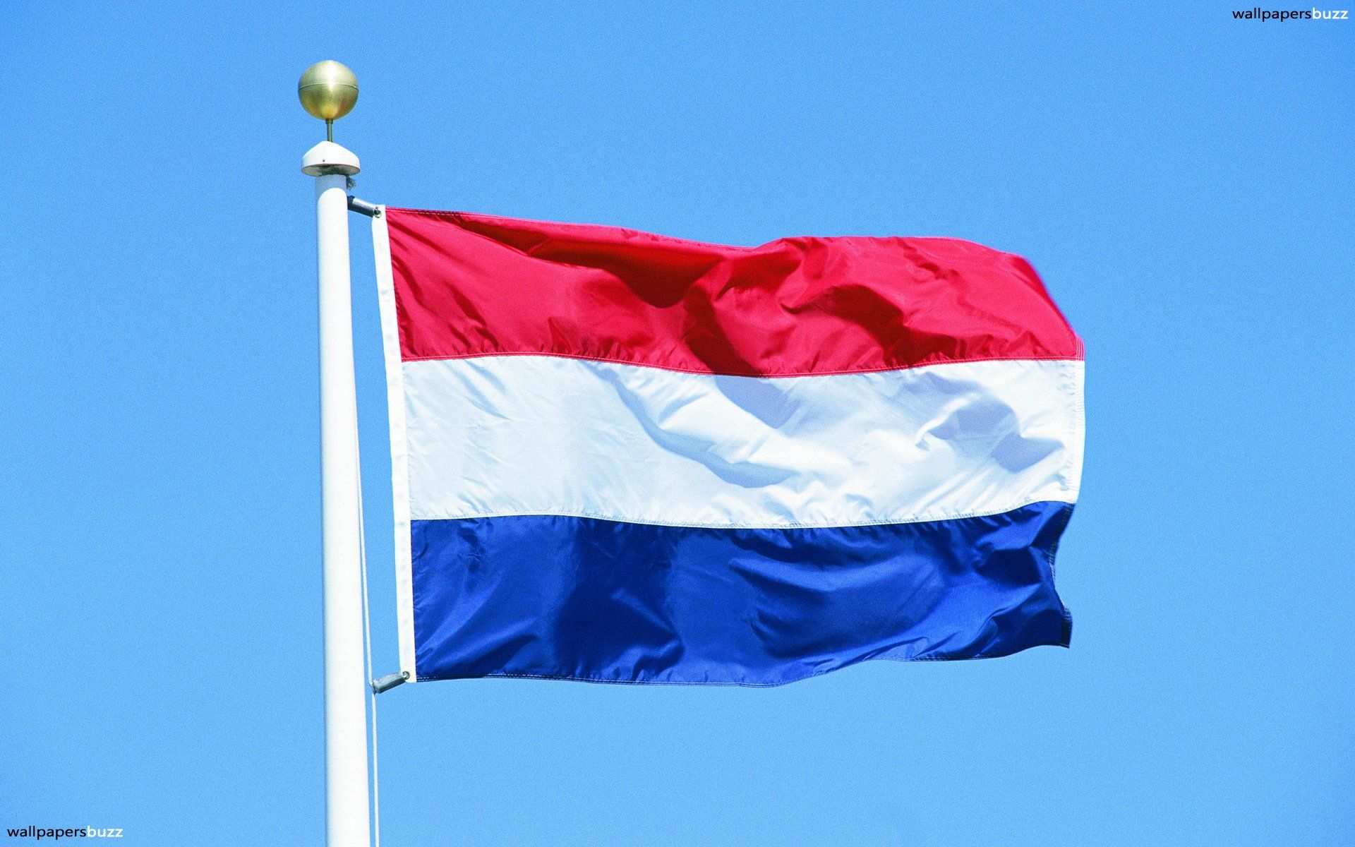 1920x1200 The traditional flag of Kingdom of Netherlands HD Wallpaper