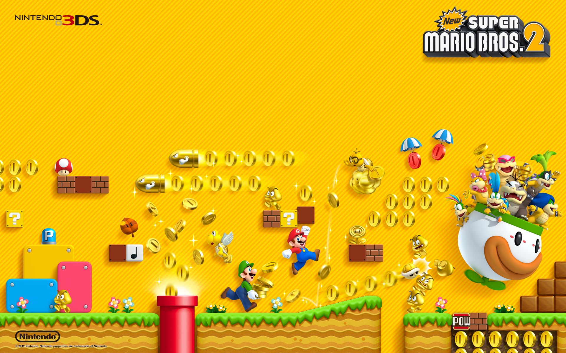 1920x1200 Image - NSMB2-wallpaper-1920x1200.jpg | Nintendo | FANDOM powered by ...