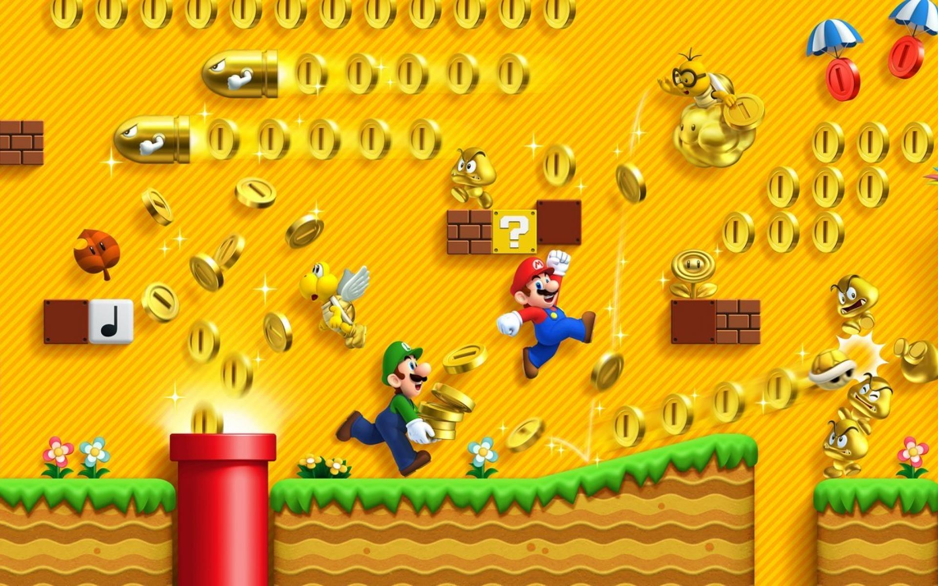 1920x1200 Games mario 3ds new super bros 2 wallpaper | (10822)