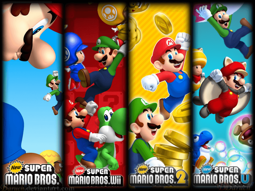 1024x768 Super Mario Bros Wallpapers Group (87+)