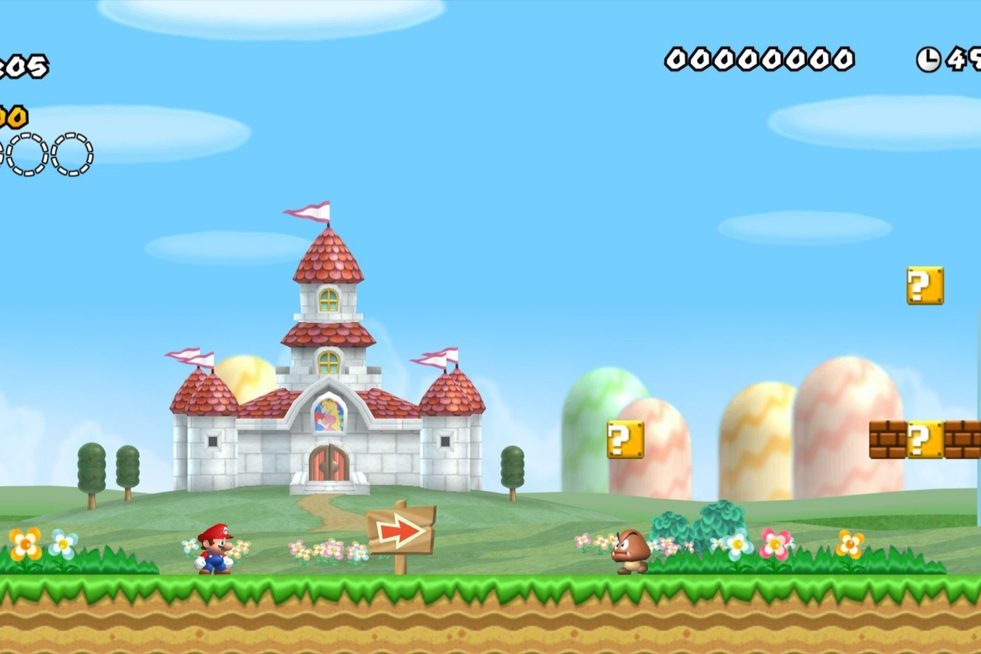 2000x1333 Mushroom kingdom new super mario bros wii wallpaper | AllWallpaper ...