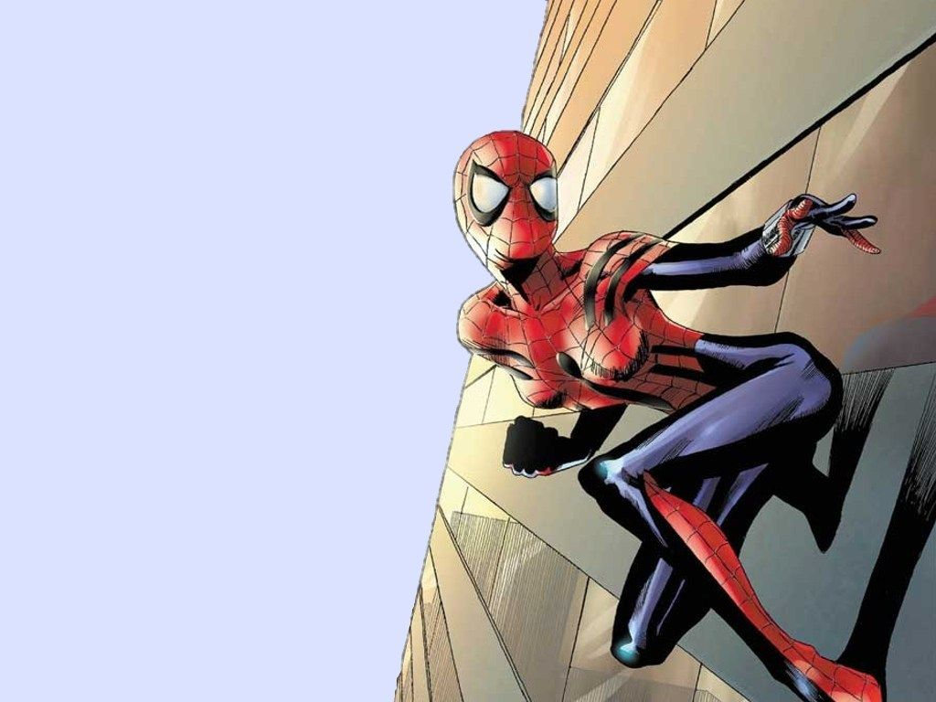 1024x768 Amazing Spider-Girl On A Wall | Zoom Comics - Daily Comic ...