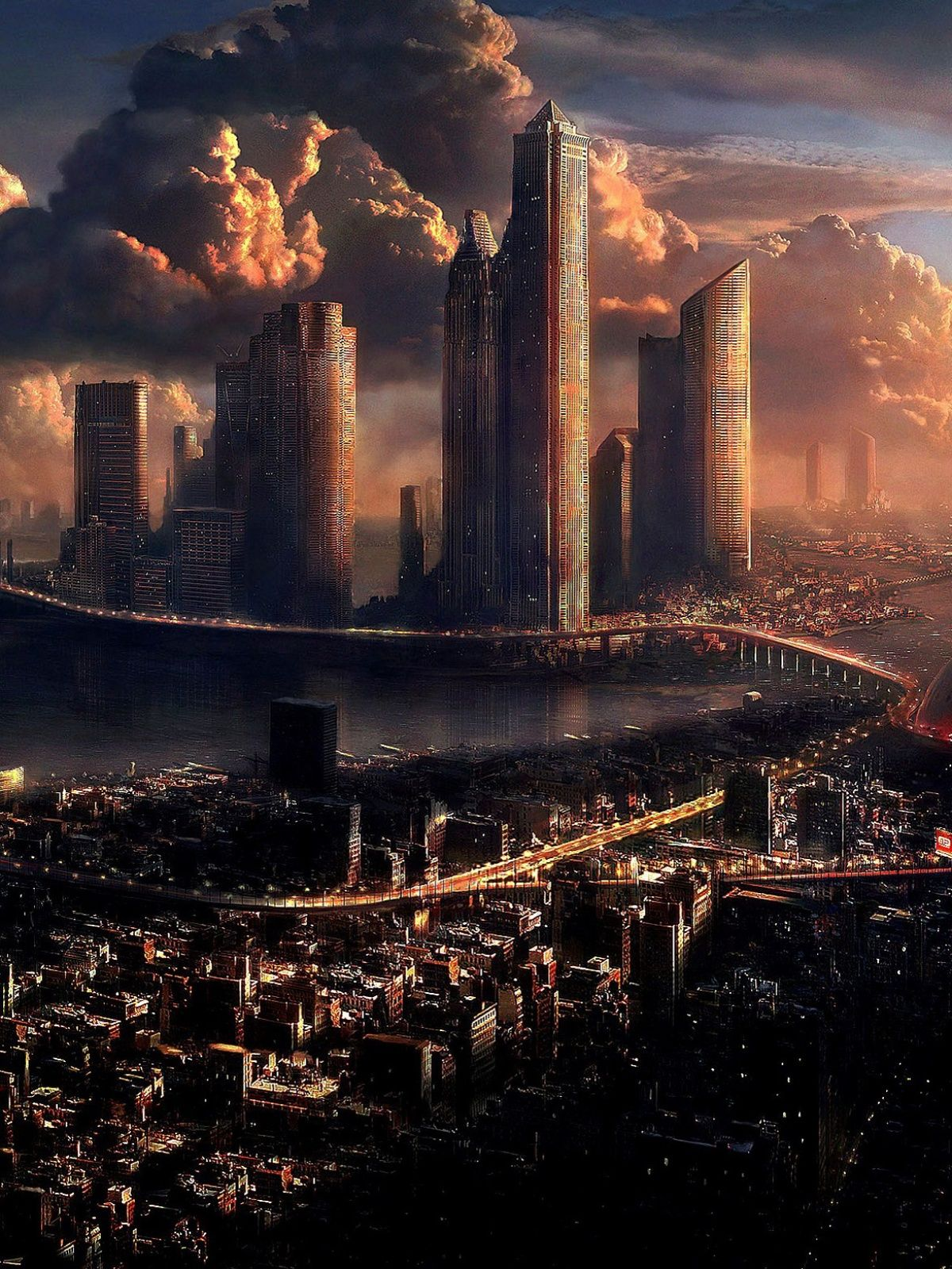 1200x1600 Cities Futuristic Mobile Wallpaper - Mobiles Wall