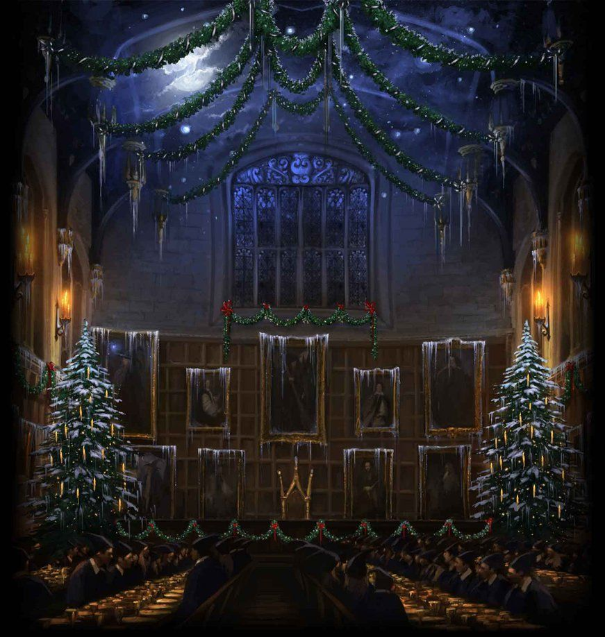 871x918 Pottermore Background: Great Hall at Christmas by xxtayce on DeviantArt