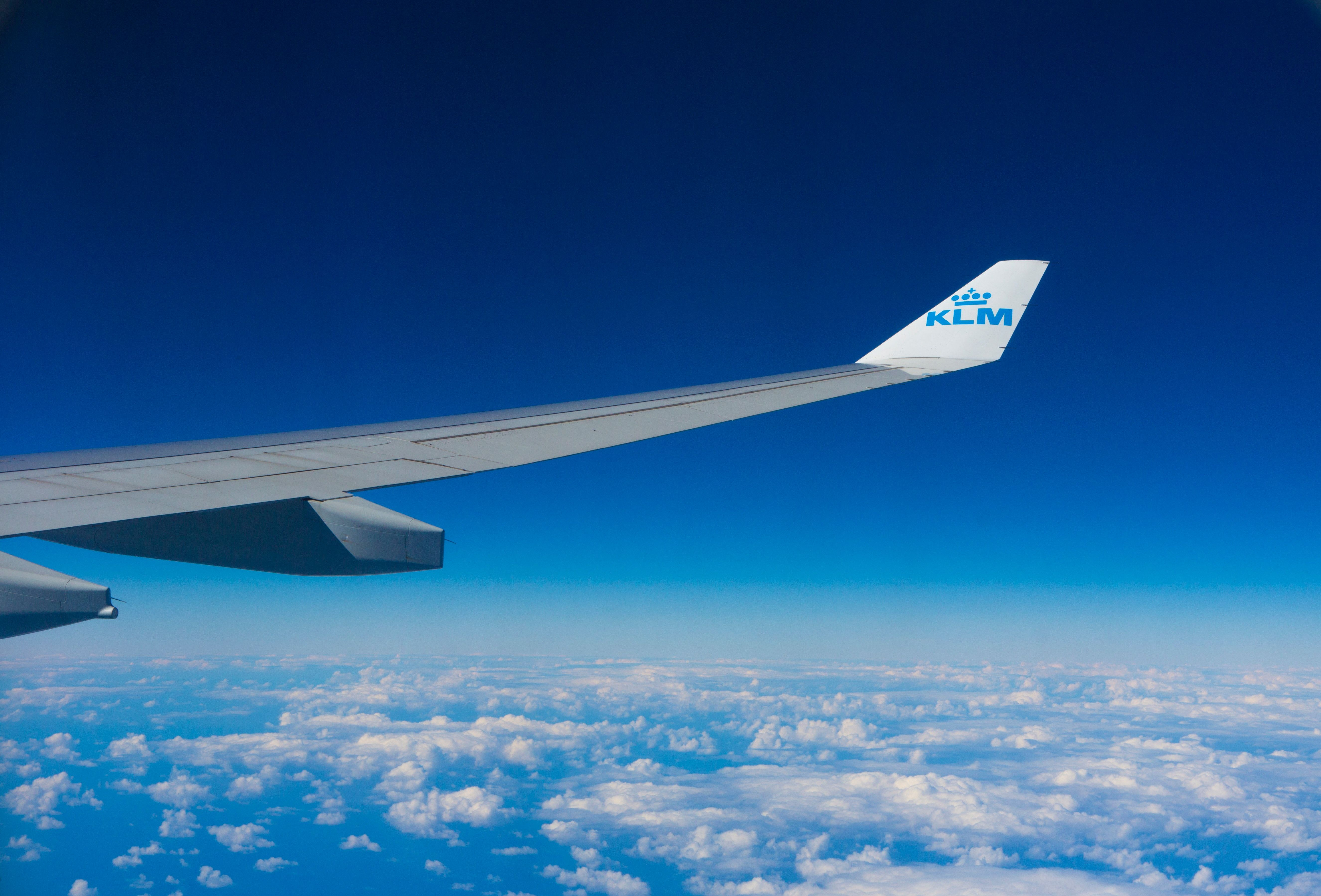 5302x3598 Photo of White and Blue Klm Plane · Free Stock Photo