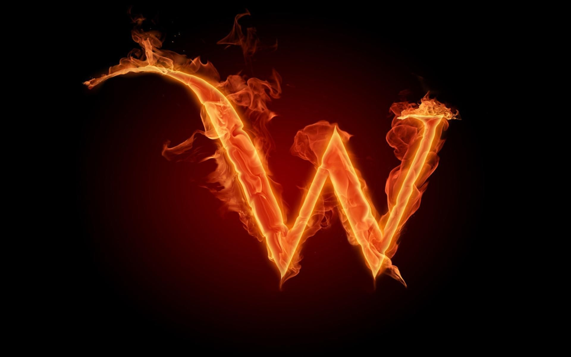 1920x1200 Burning Fire Letter W Wallpaper   Letter w, Picture letters ...