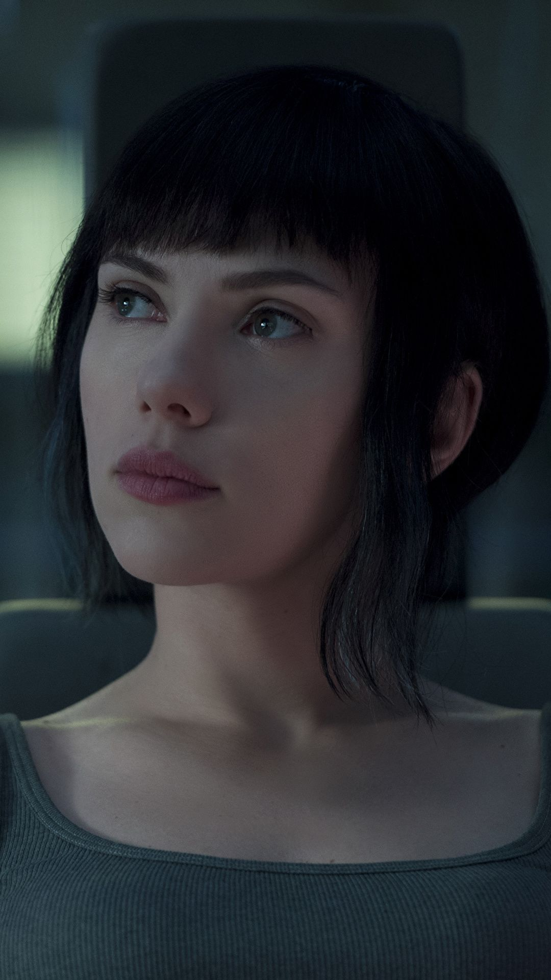 1080x1920 Wallpaper Ghost in the Shell 2017 Scarlett Johansson young ...