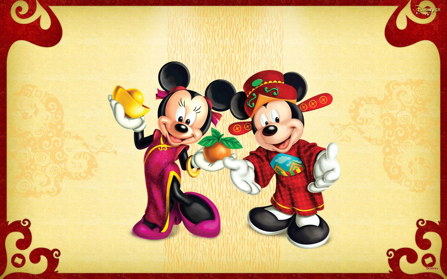 1440x900 Disney Mickey Lucky Fortune Wallpaper - Mickey And Minnie ...