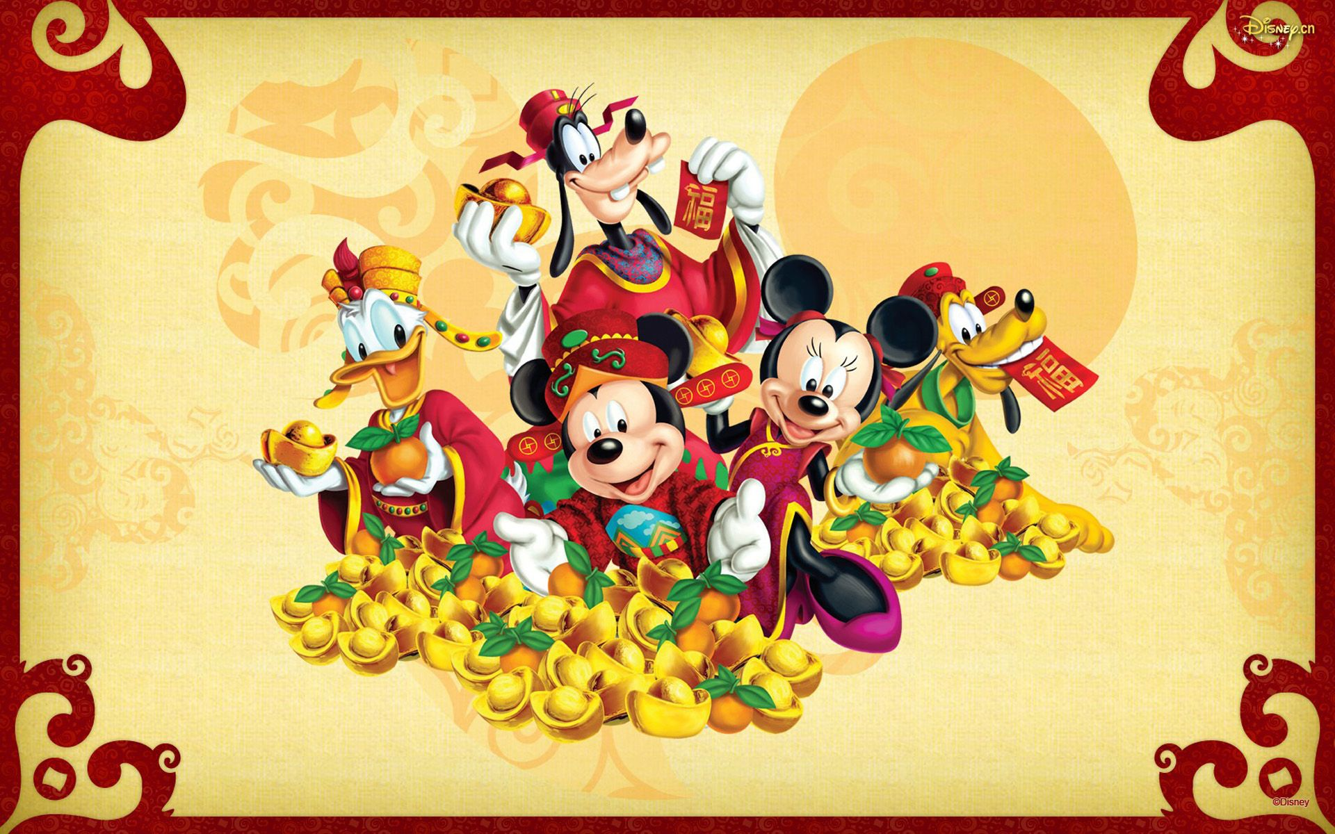1920x1200 Mickey And Minnie Mouse Donald Duck And Pluto Cartoon Disney ...