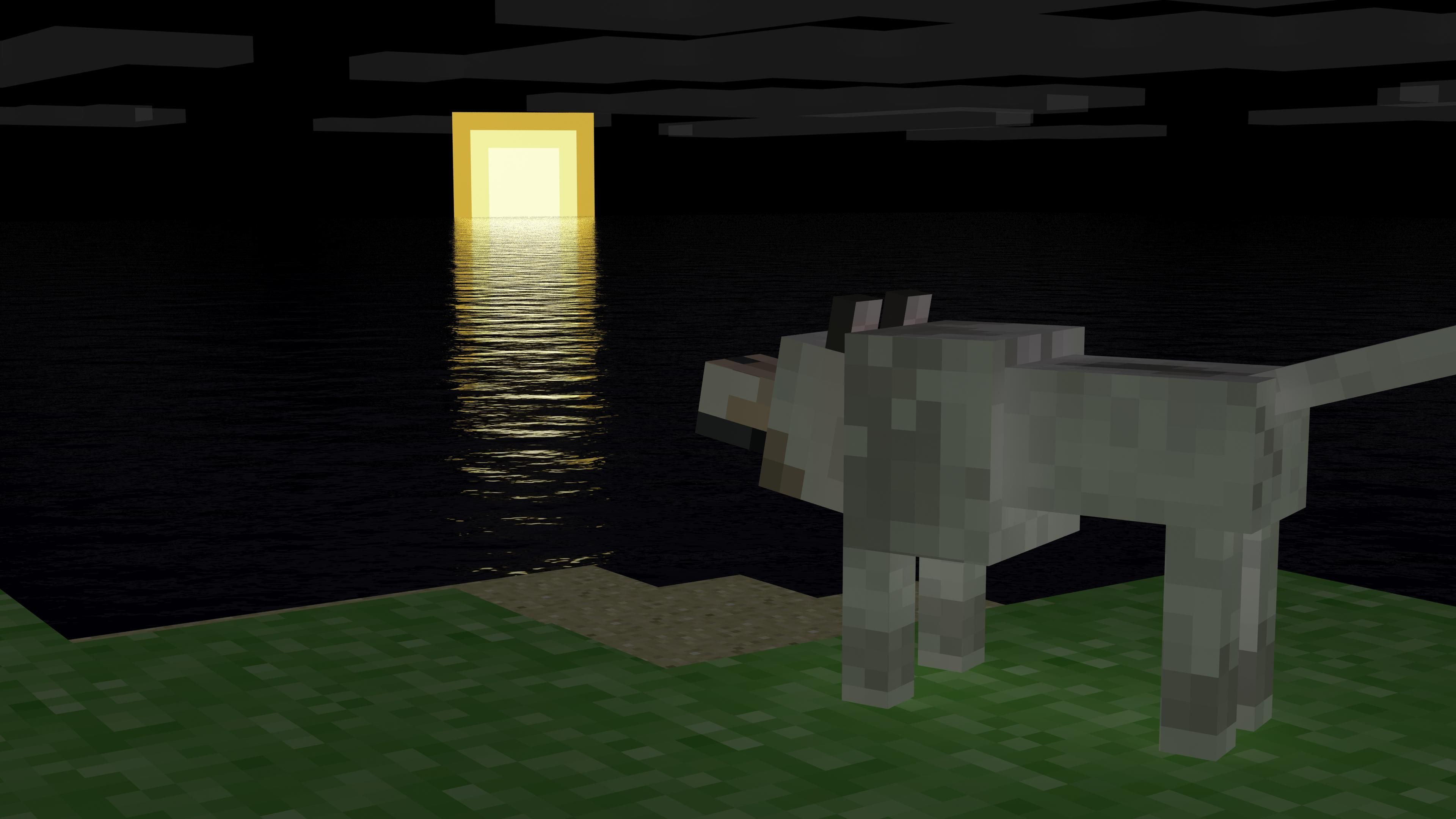 3840x2160 Minecraft Wolf Wallpapers