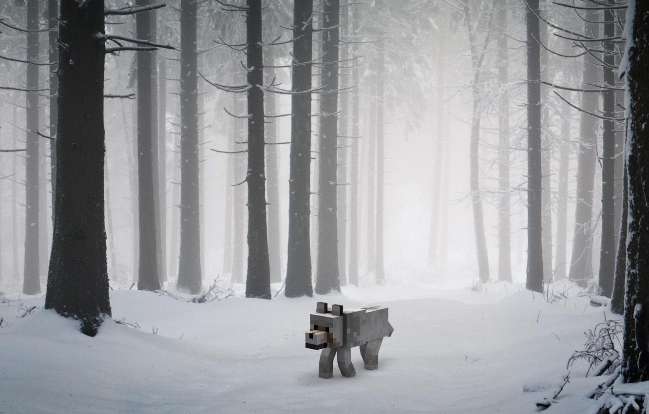 1332x850 Minecraft Wolf Wallpapers